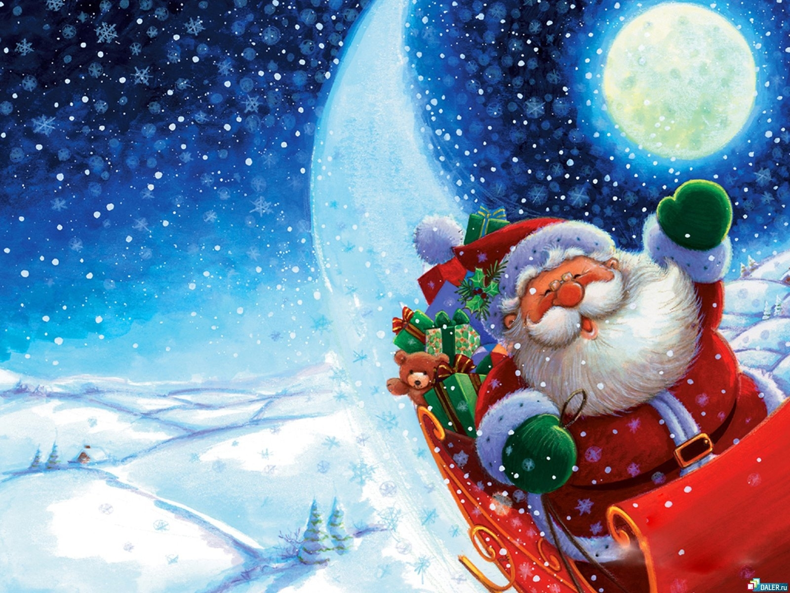 1251 download wallpaper Holidays, Winter, New Year, Jack Frost, Snow screensavers and pictures for free