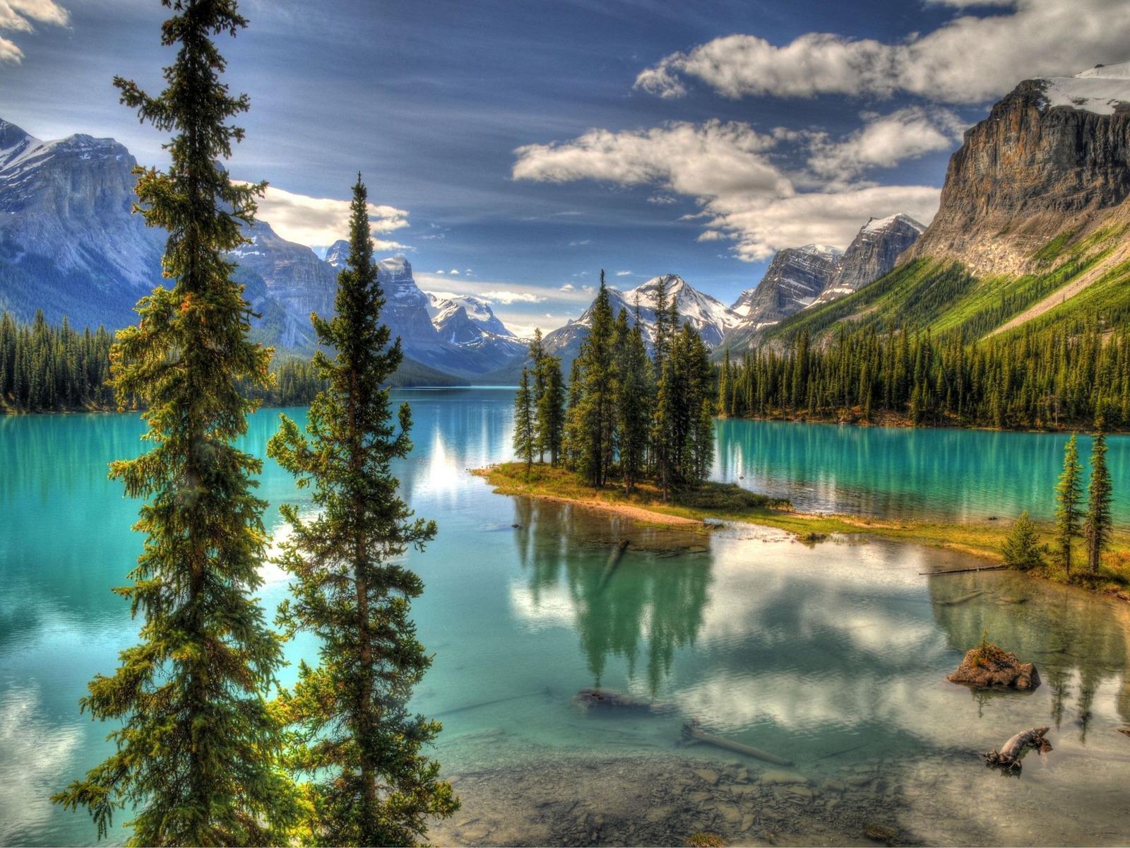 21284 Заставки и Обои Озера на телефон. Скачать Озера, Пейзаж, Горы, Облака картинки бесплатно