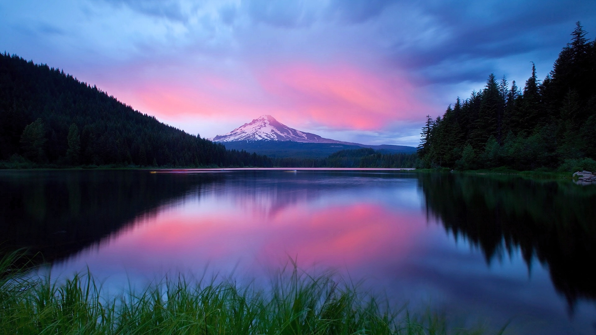 33697 download wallpaper Landscape, Rivers, Sunset, Mountains screensavers and pictures for free