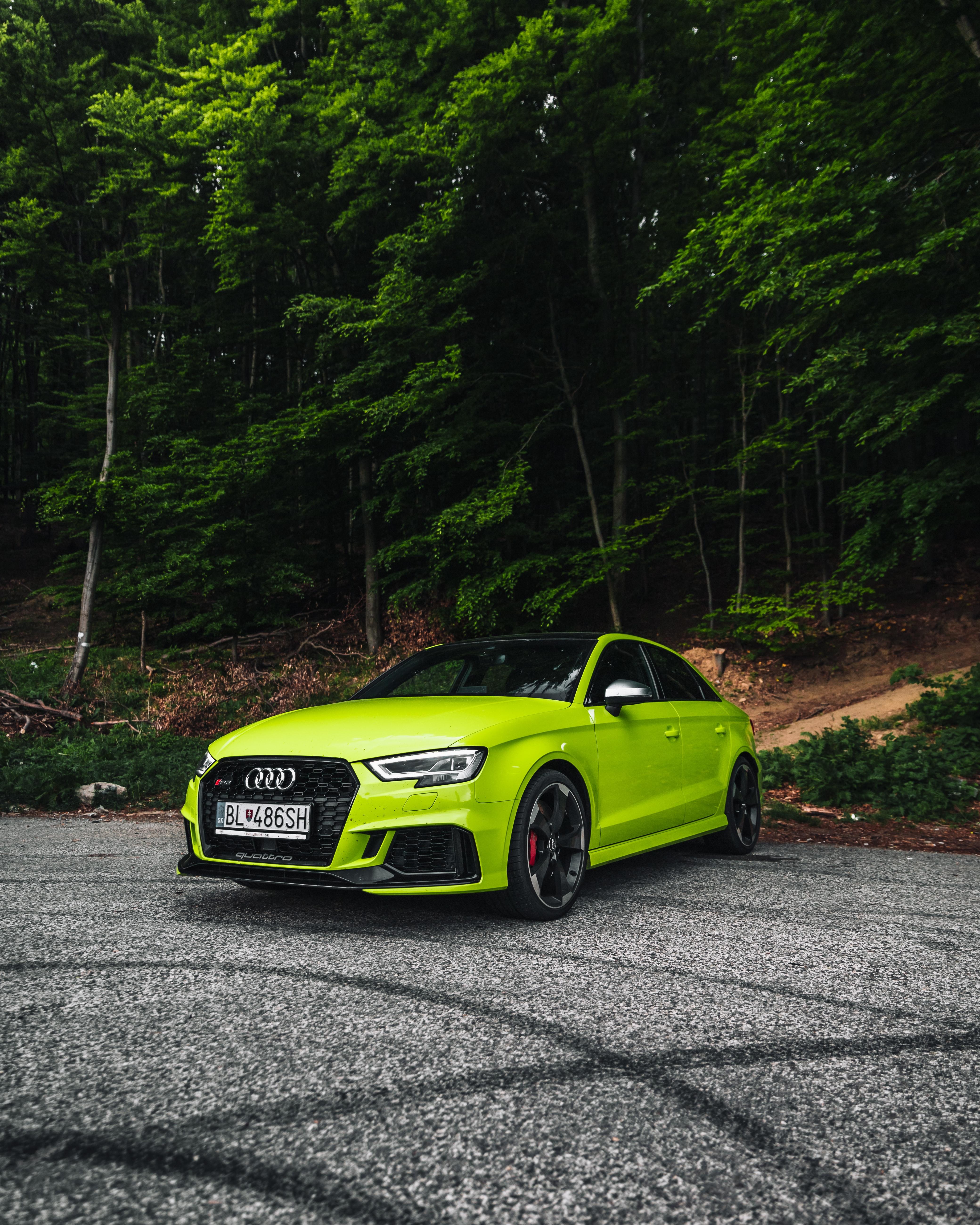 120104 скачать обои Ауди (Audi), Автомобиль, Тачки (Cars), Спорткар, Зеленый, Audi Rs4 - заставки и картинки бесплатно
