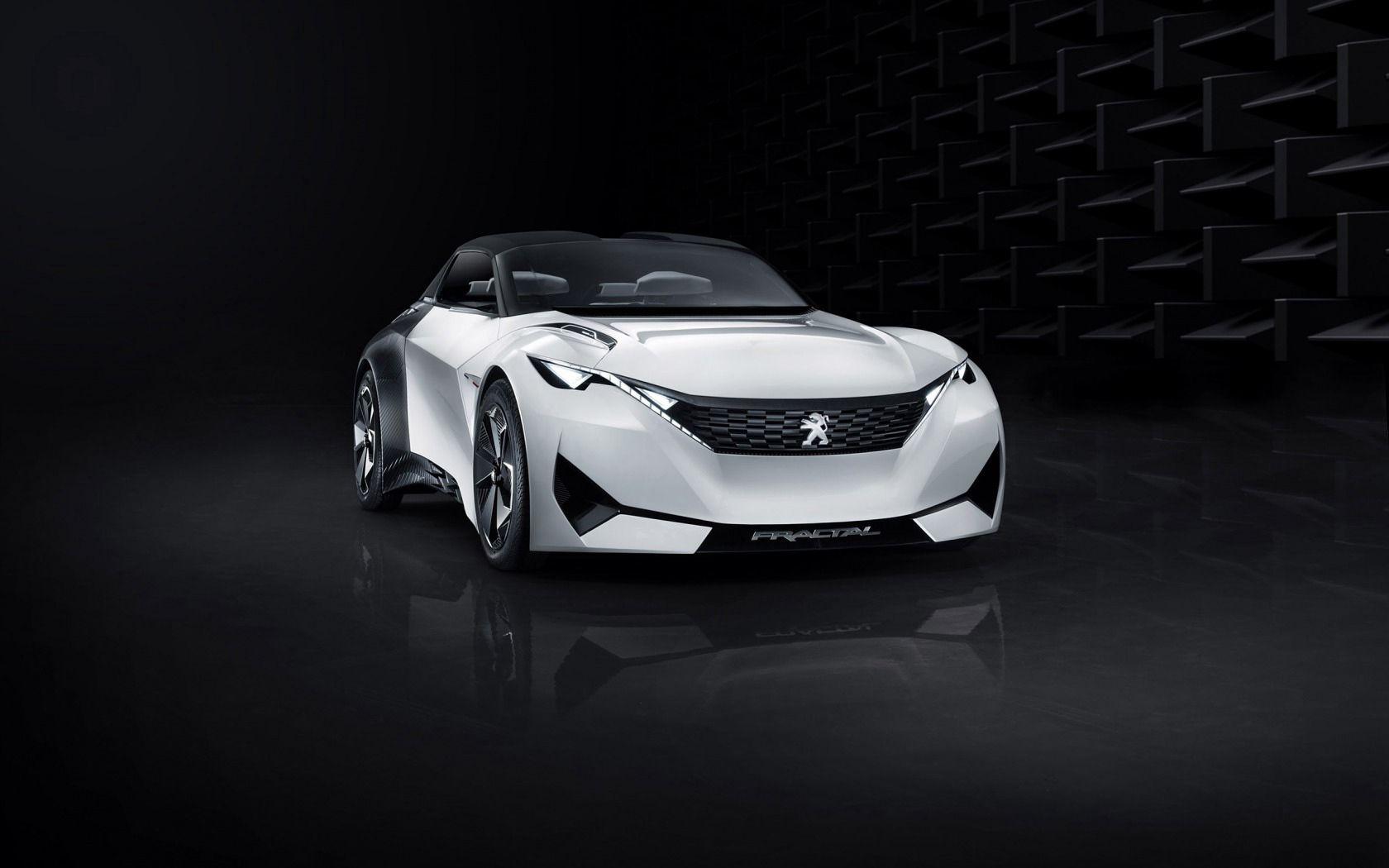 57341 скачать обои Пежо (Peugeot), Тачки (Cars), Вид Спереди, Концепт, Fractal - заставки и картинки бесплатно