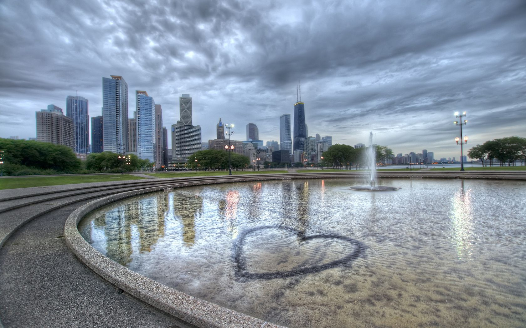 134785 Screensavers and Wallpapers Fountain for phone. Download Cities, Fountain, Building, Hdr, Chicago, Illinois pictures for free