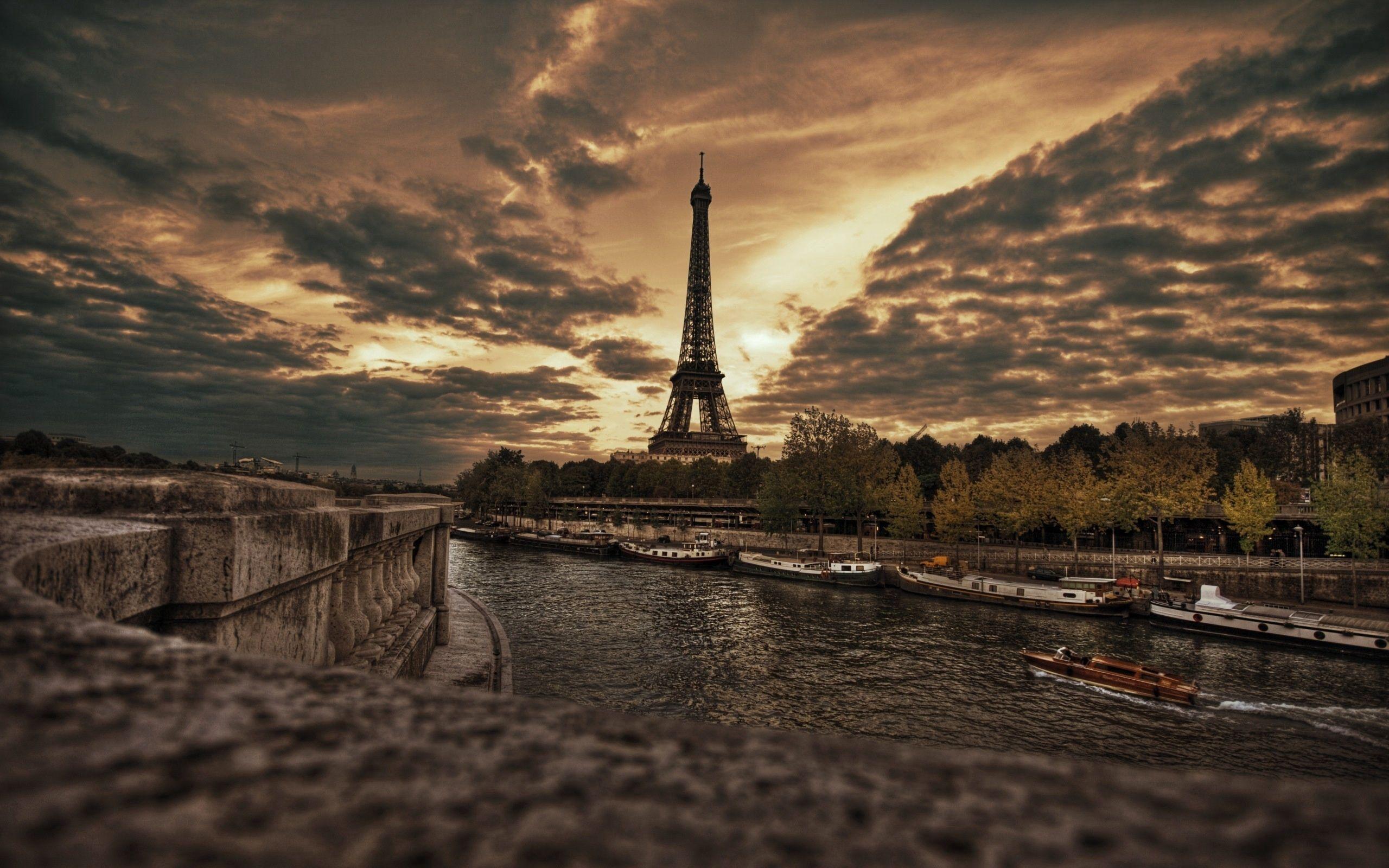 135431 télécharger le fond d'écran Paris, Le Remblai, Quai, Hdr, Villes, Tour Eiffel - économiseurs d'écran et images gratuitement