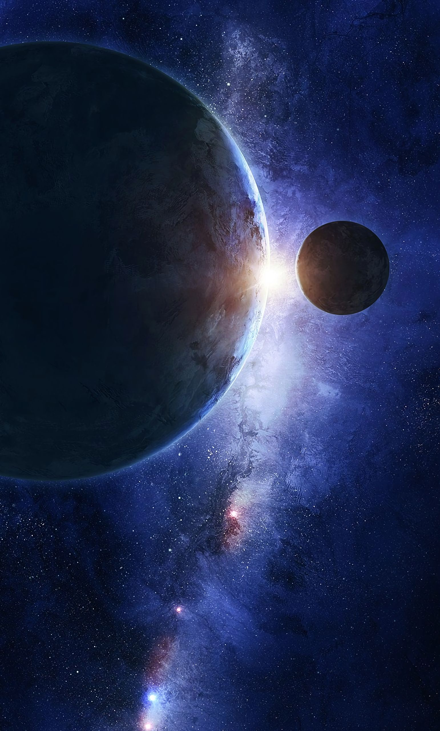 64428 Заставки и Обои Планеты на телефон. Скачать Планеты, Космос, Вселенная, Галактика, Планета, Спутник картинки бесплатно