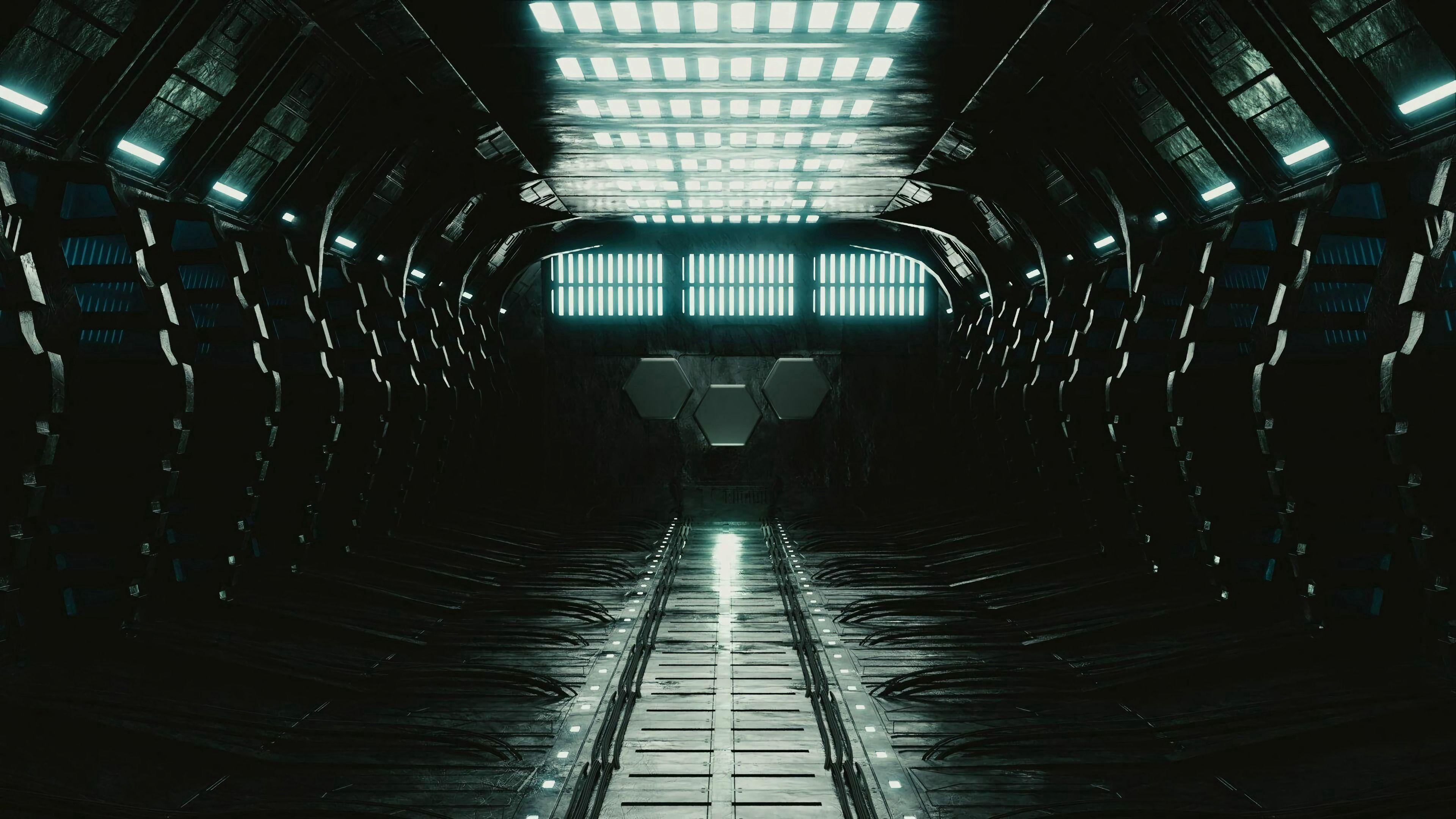 免費壁紙112216:黑暗的, 黑暗, 走廊, 前提, 房间, 灯, 灯具, 灯光, 照明 下載手機圖片