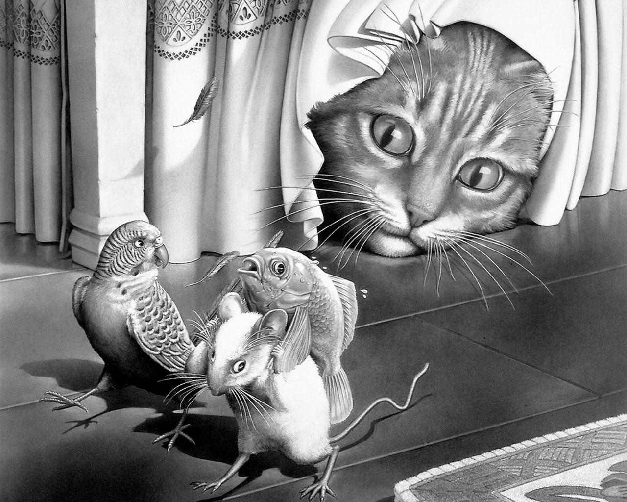 11128 Заставки и Обои Рыбы на телефон. Скачать Животные, Кошки (Коты, Котики), Мыши, Рыбы, Рисунки картинки бесплатно
