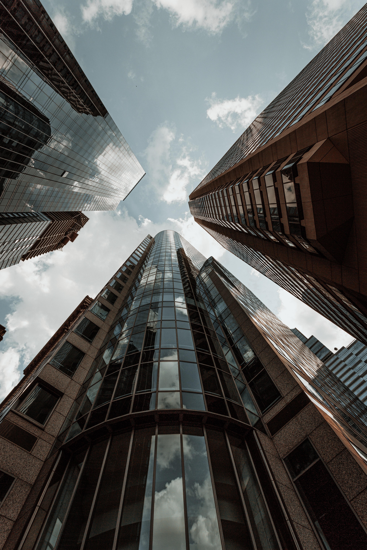 70436壁紙のダウンロード超高層ビル, 建物, 市, 都市, 底面図, ボトムビュー, アーキテクチャ-スクリーンセーバーと写真を無料で