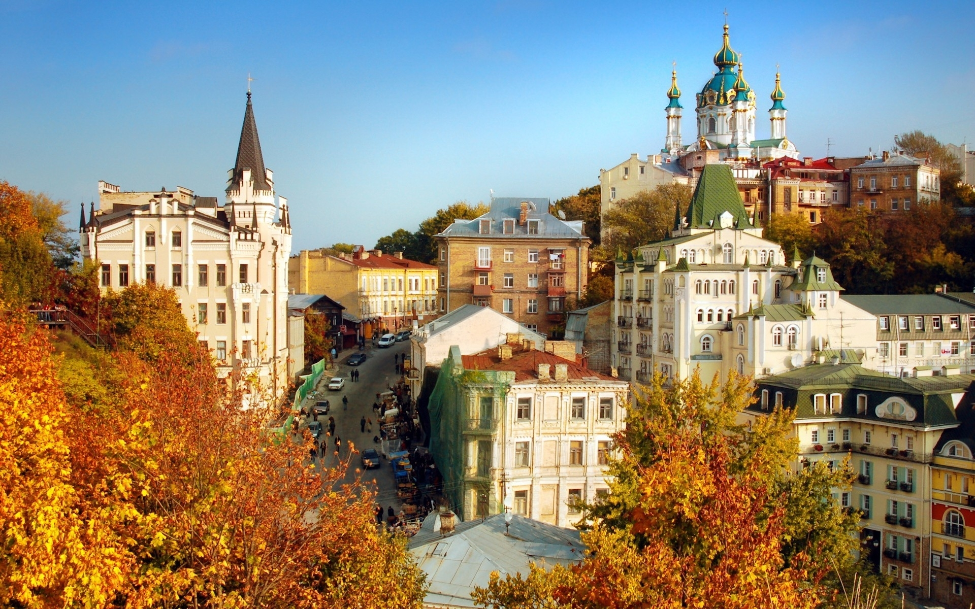 28275 download wallpaper Landscape, Cities, Autumn screensavers and pictures for free