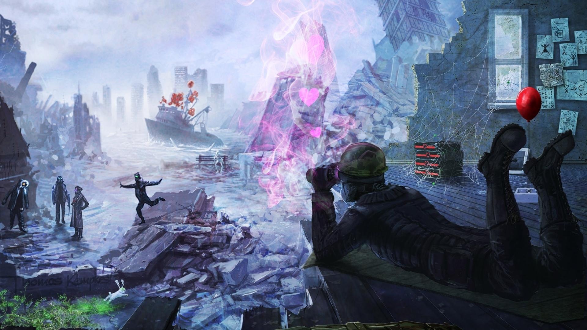 27863 Hintergrundbild herunterladen Fantasie, Soldiers - Bildschirmschoner und Bilder kostenlos