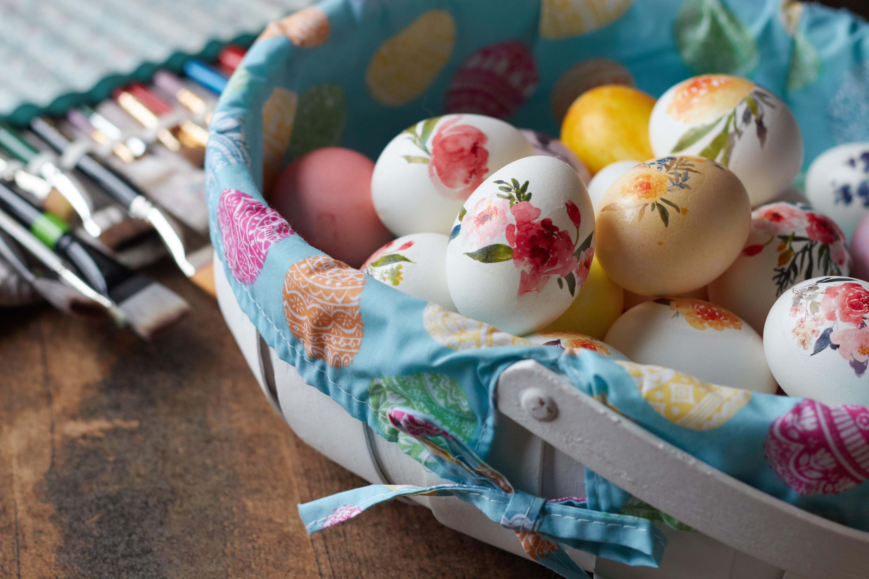 118684 descargar fondo de pantalla Vacaciones, Huevos De Pascua, Cesta, Canasta, Patrón, Pascua, Huevos: protectores de pantalla e imágenes gratis