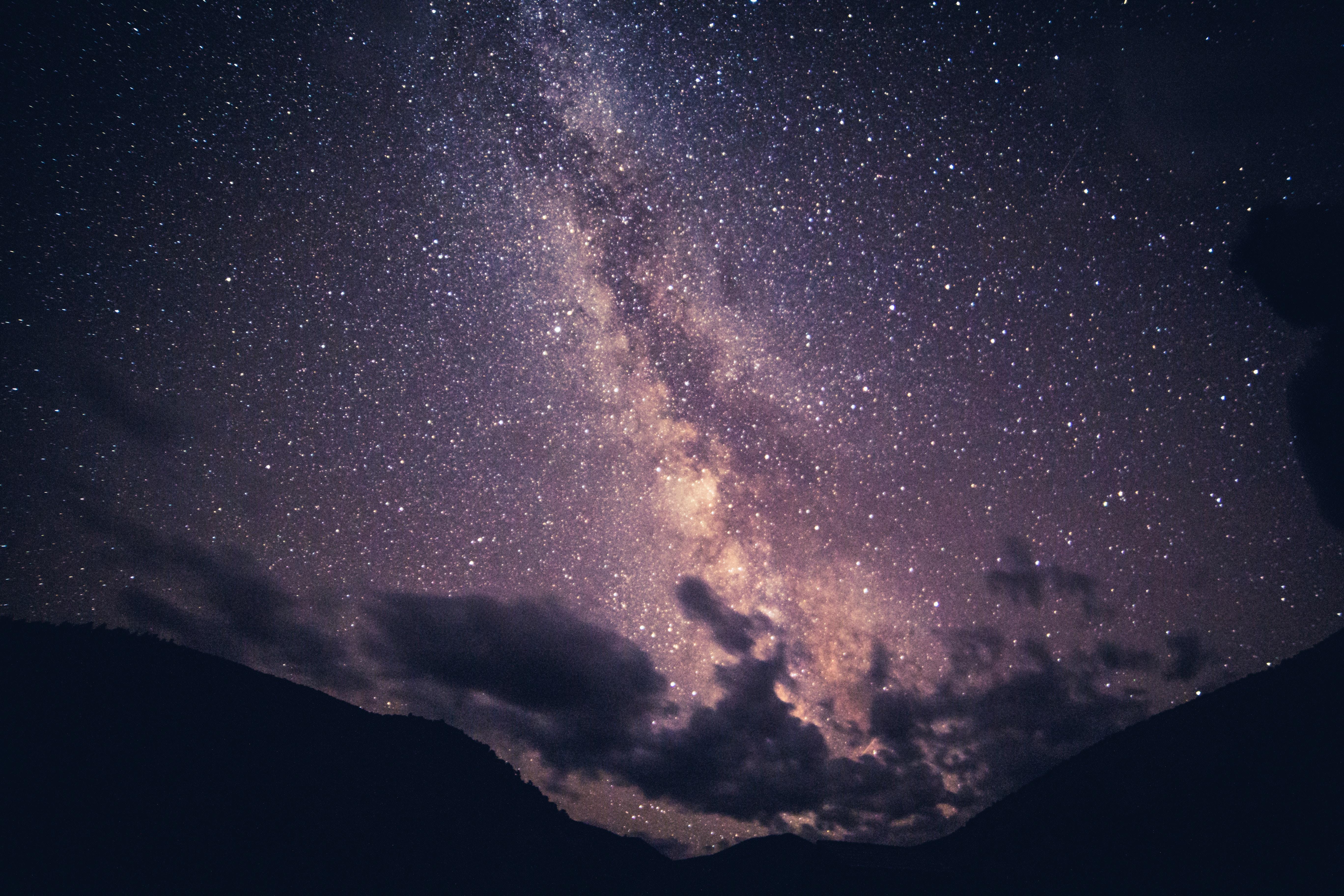 75693壁紙のダウンロード自然, 星空, 天の川, 雲, ナイト-スクリーンセーバーと写真を無料で