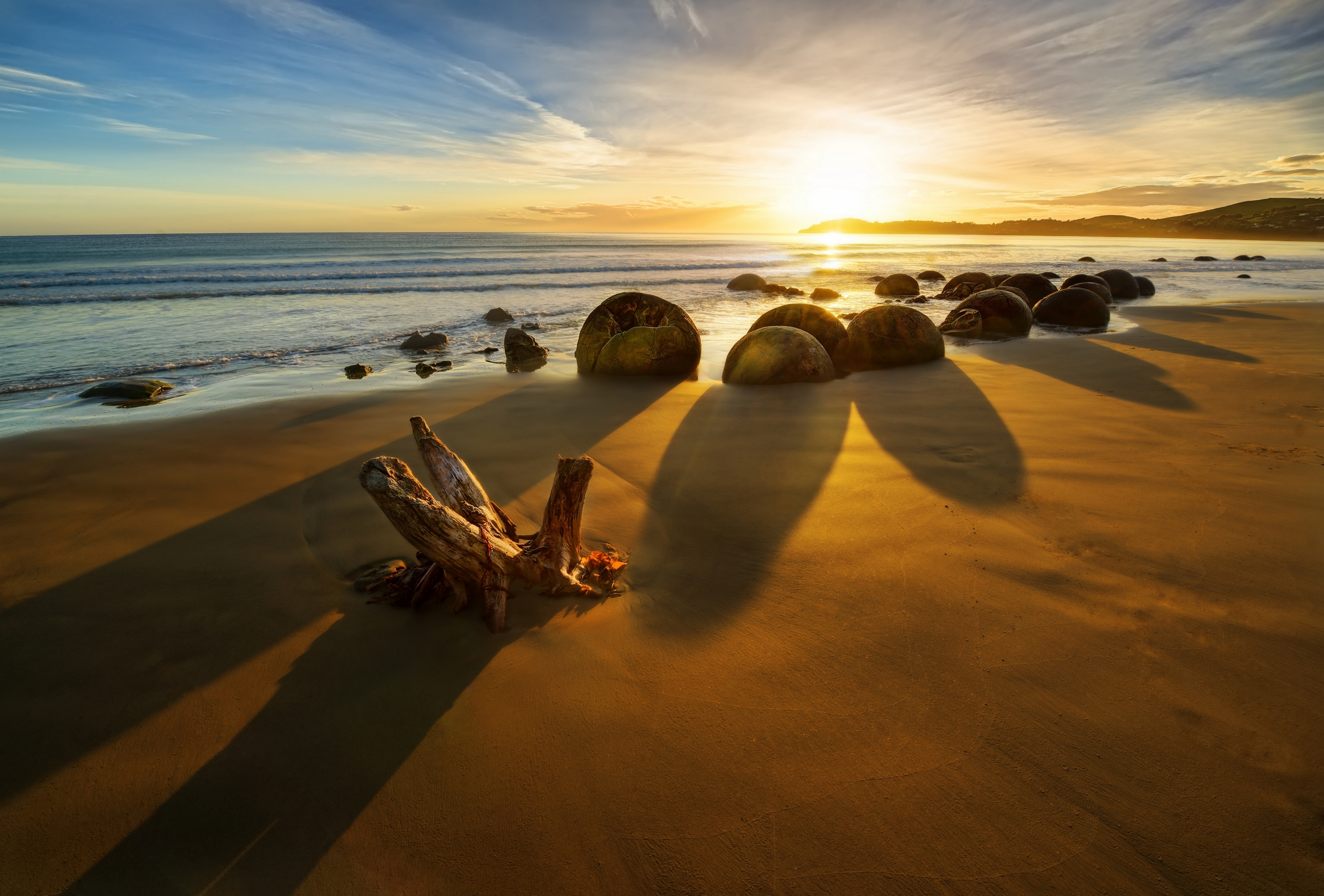 140805 Screensavers and Wallpapers New Zealand for phone. Download Nature, Stones, New Zealand, Coast, Ocean, Sunrise, Rise pictures for free