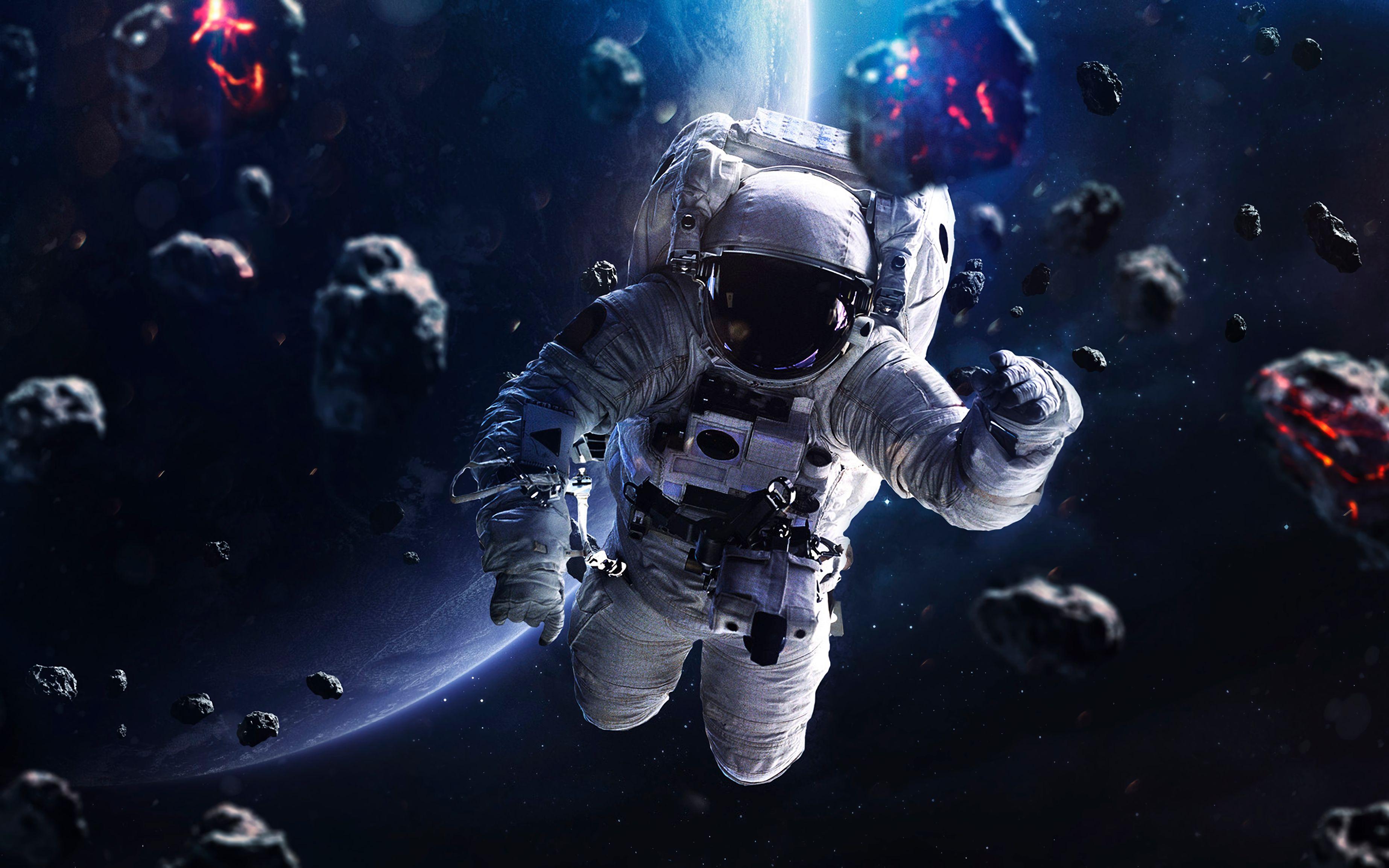 136829 Заставки и Обои Космос на телефон. Скачать Космонавт, Космос, Скафандр, Метеориты картинки бесплатно