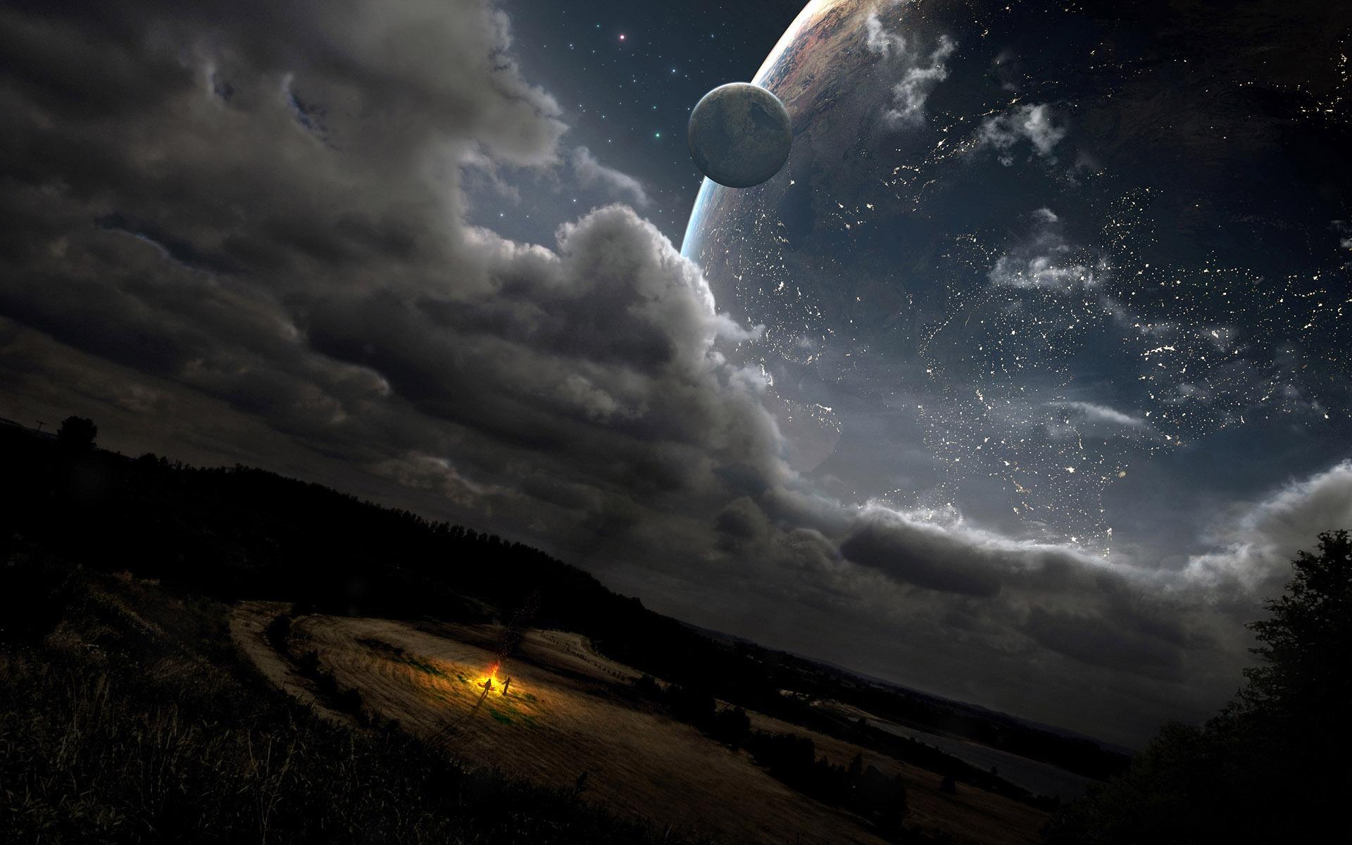 31674 Hintergrundbild herunterladen Landschaft, Fantasie, Planets, Universum - Bildschirmschoner und Bilder kostenlos