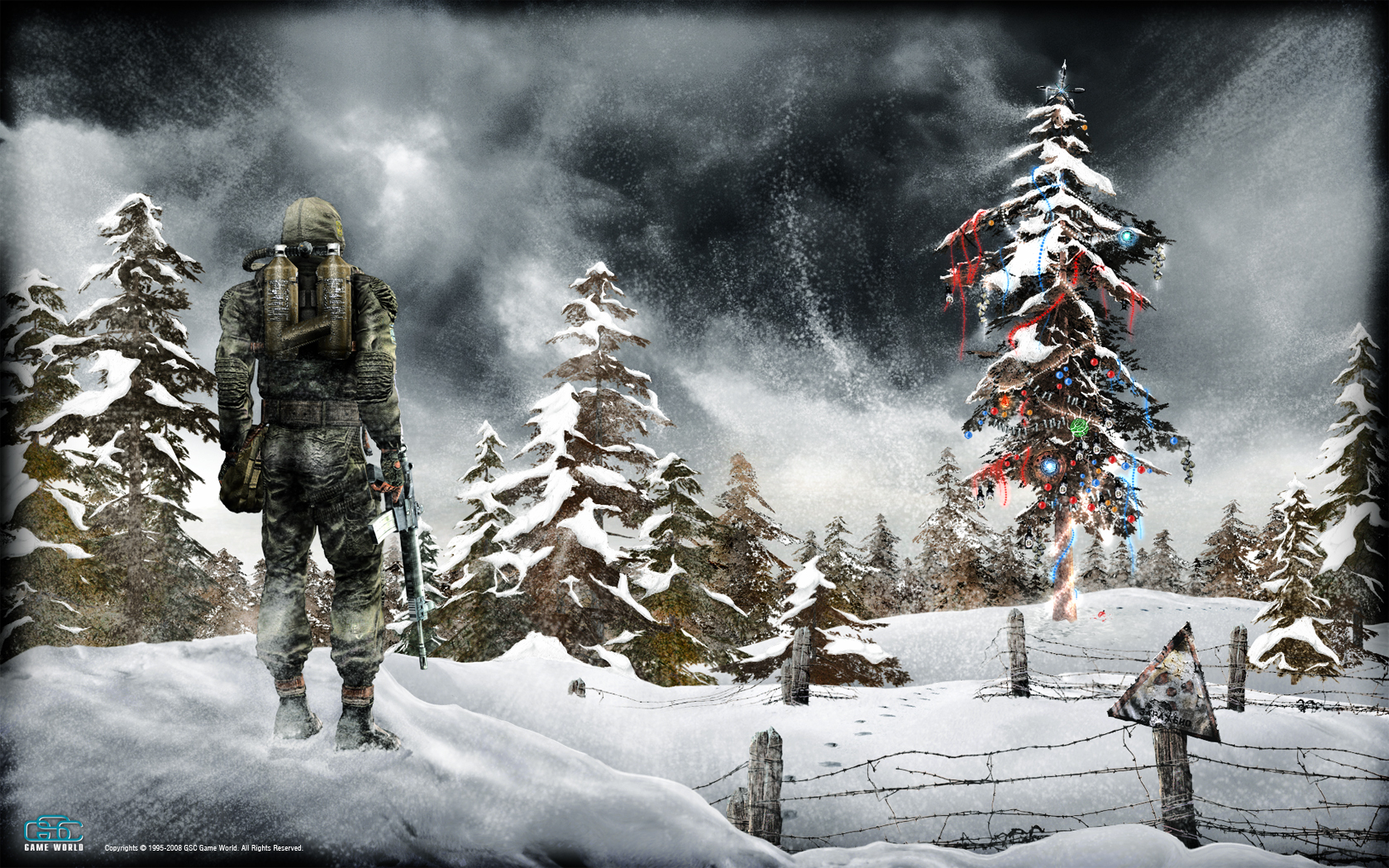 Скачать картинку Сталкер (S.t.a.l.k.e.r.), Игры, Зима, Снег в телефон бесплатно.