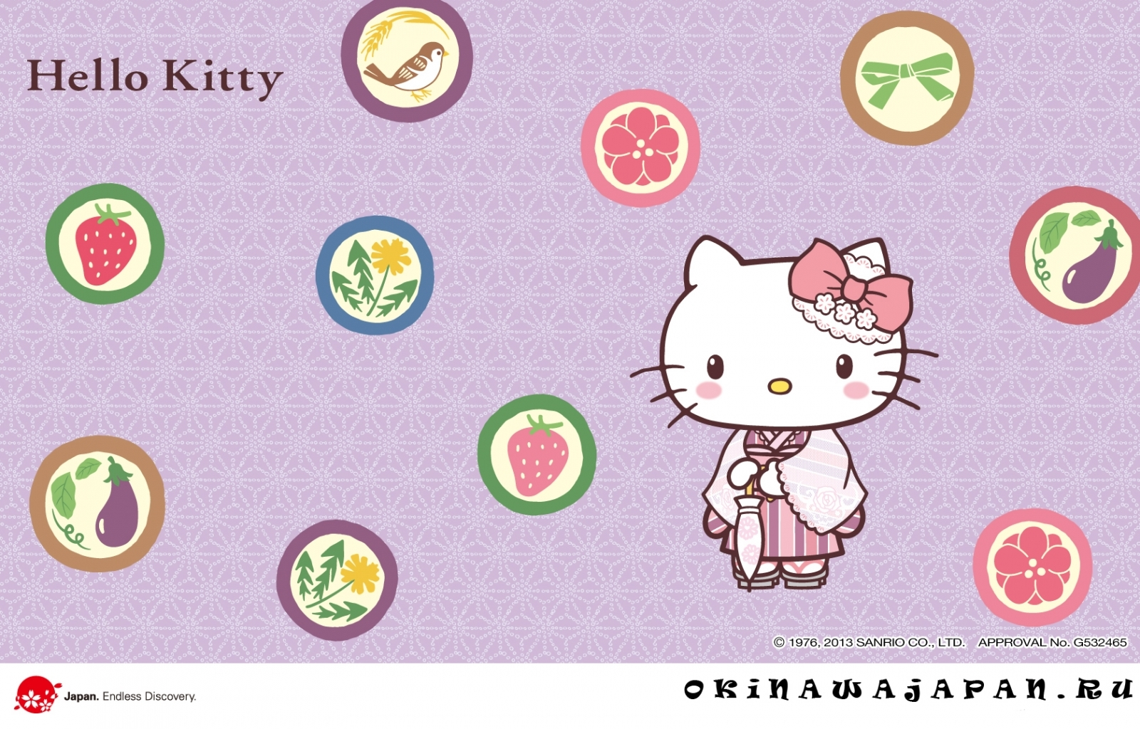 Скачать картинку Бренды, Фон, Hello Kitty в телефон бесплатно.