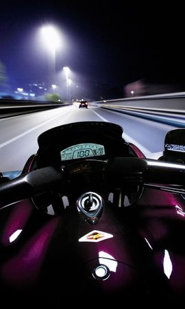 23176 скачать обои Транспорт, Пейзаж, Дороги, Ночь, Мотоциклы - заставки и картинки бесплатно