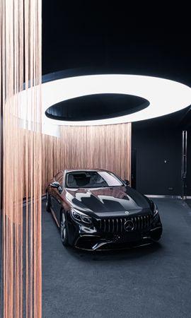 59575 télécharger le fond d'écran Voitures, Mercedes-Benz Amg 63 S, Mercedes, Une Voiture, Machine, Le Noir, Supercar - économiseurs d'écran et images gratuitement