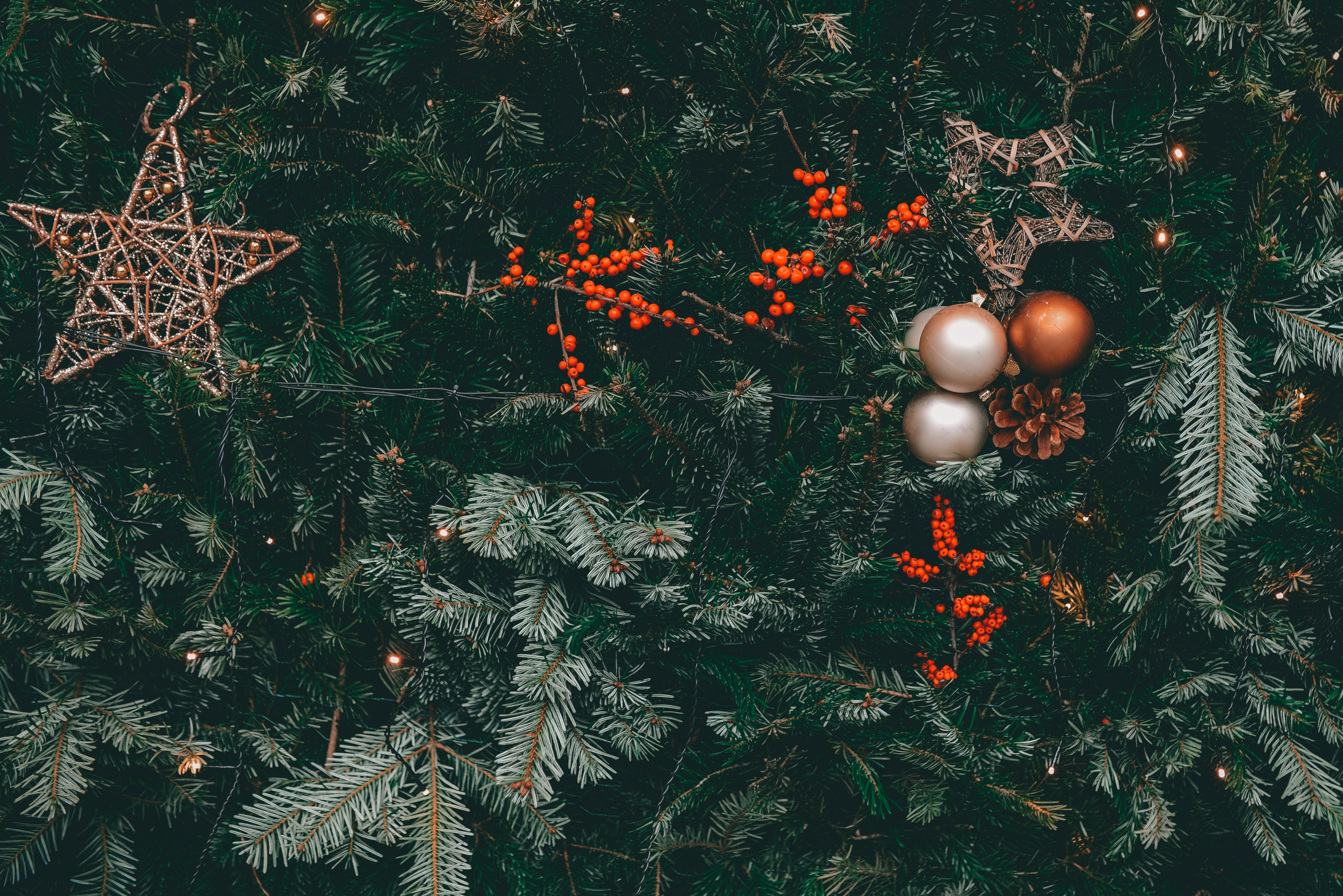 117971 Screensavers and Wallpapers Balls for phone. Download Holidays, Cones, Decorations, Berries, Christmas Tree, Garland, Balls, Garlands pictures for free