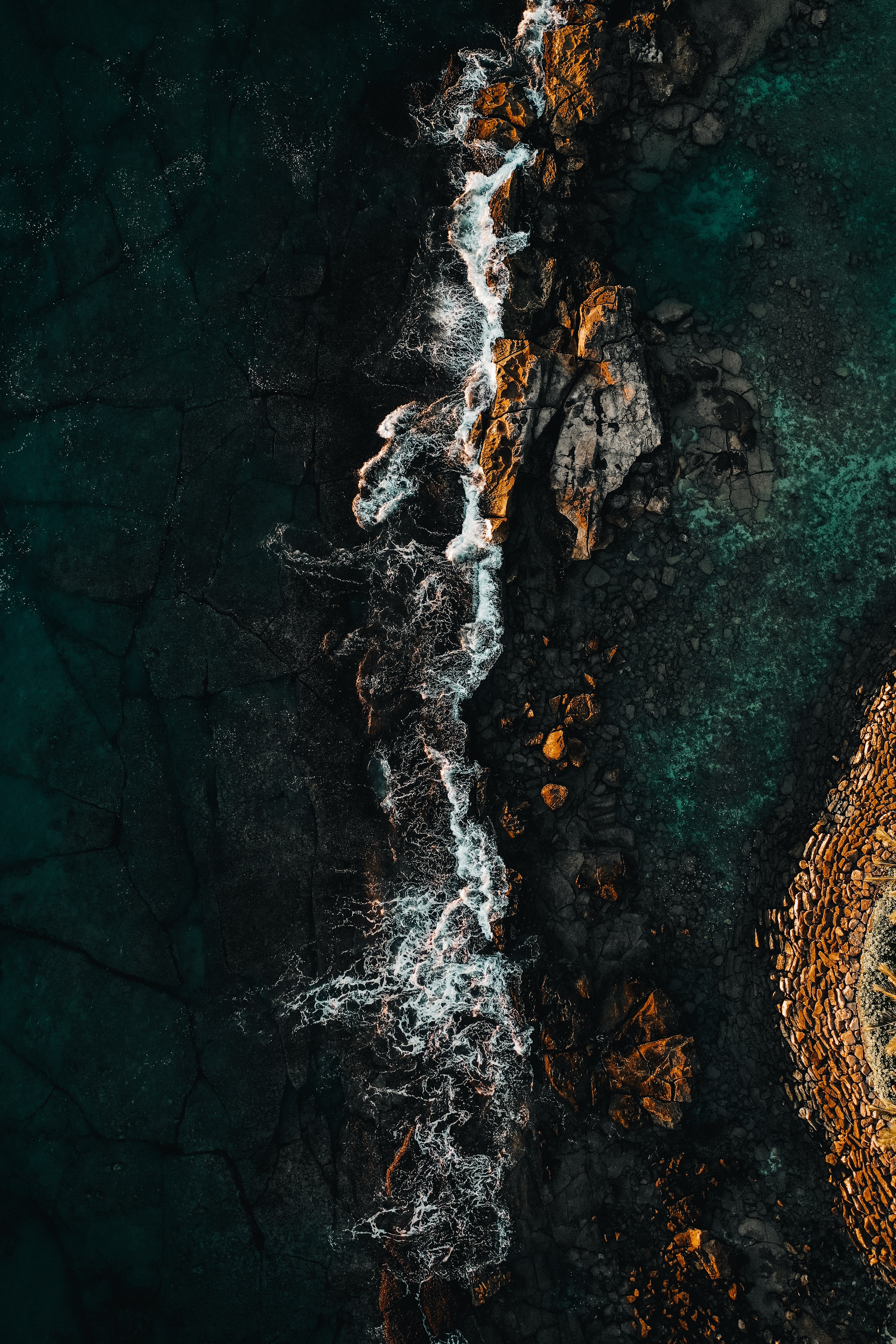 92488 download wallpaper Nature, Water, Stones, Sea, Rocks, View From Above screensavers and pictures for free