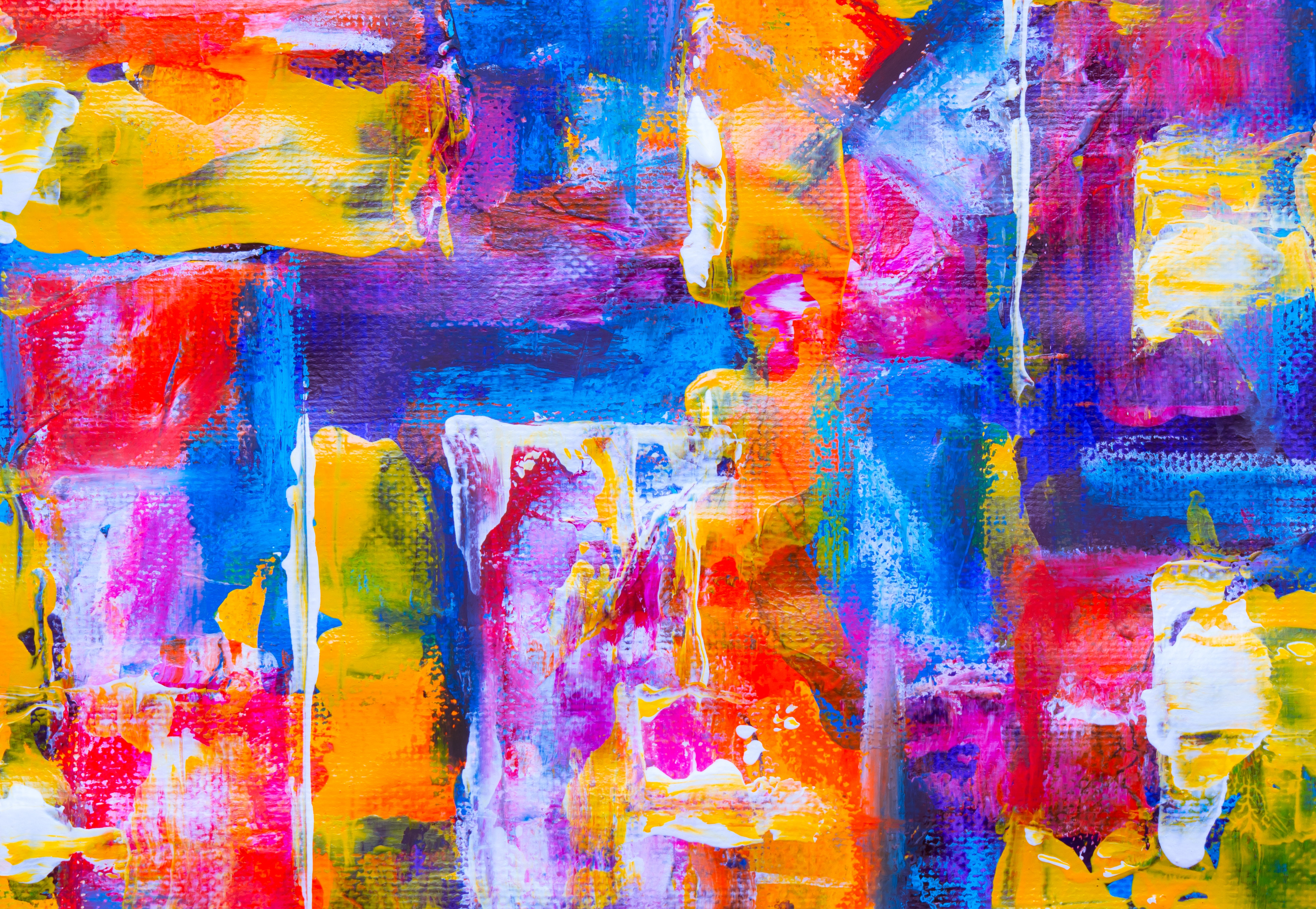54326 download wallpaper Multicolored, Abstract, Motley, Paint, Stains, Spots, Canvas, Smears, Strokes screensavers and pictures for free