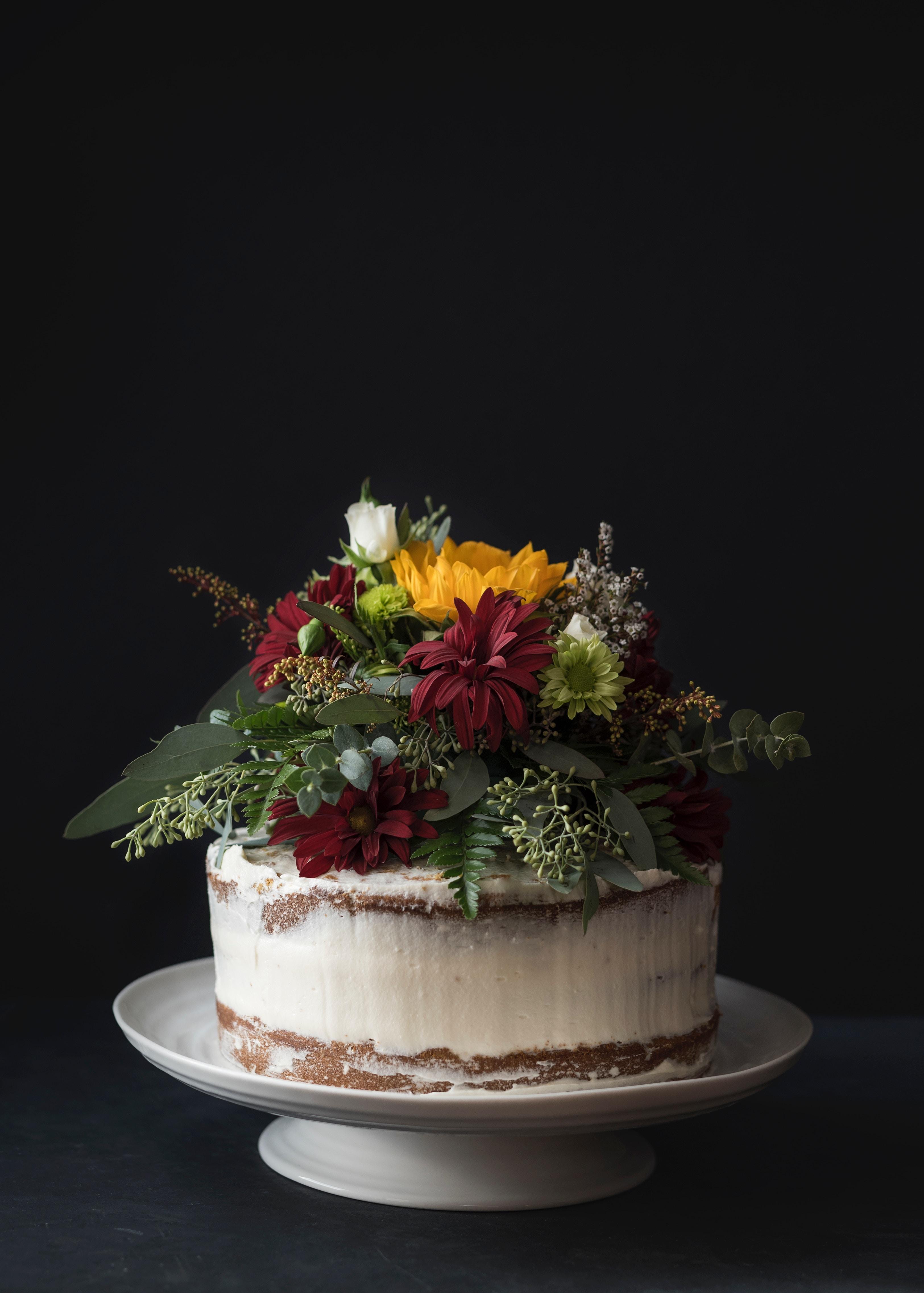 93401 скачать обои Торт, Цветы, Еда, Пустыня, Выпечка - заставки и картинки бесплатно