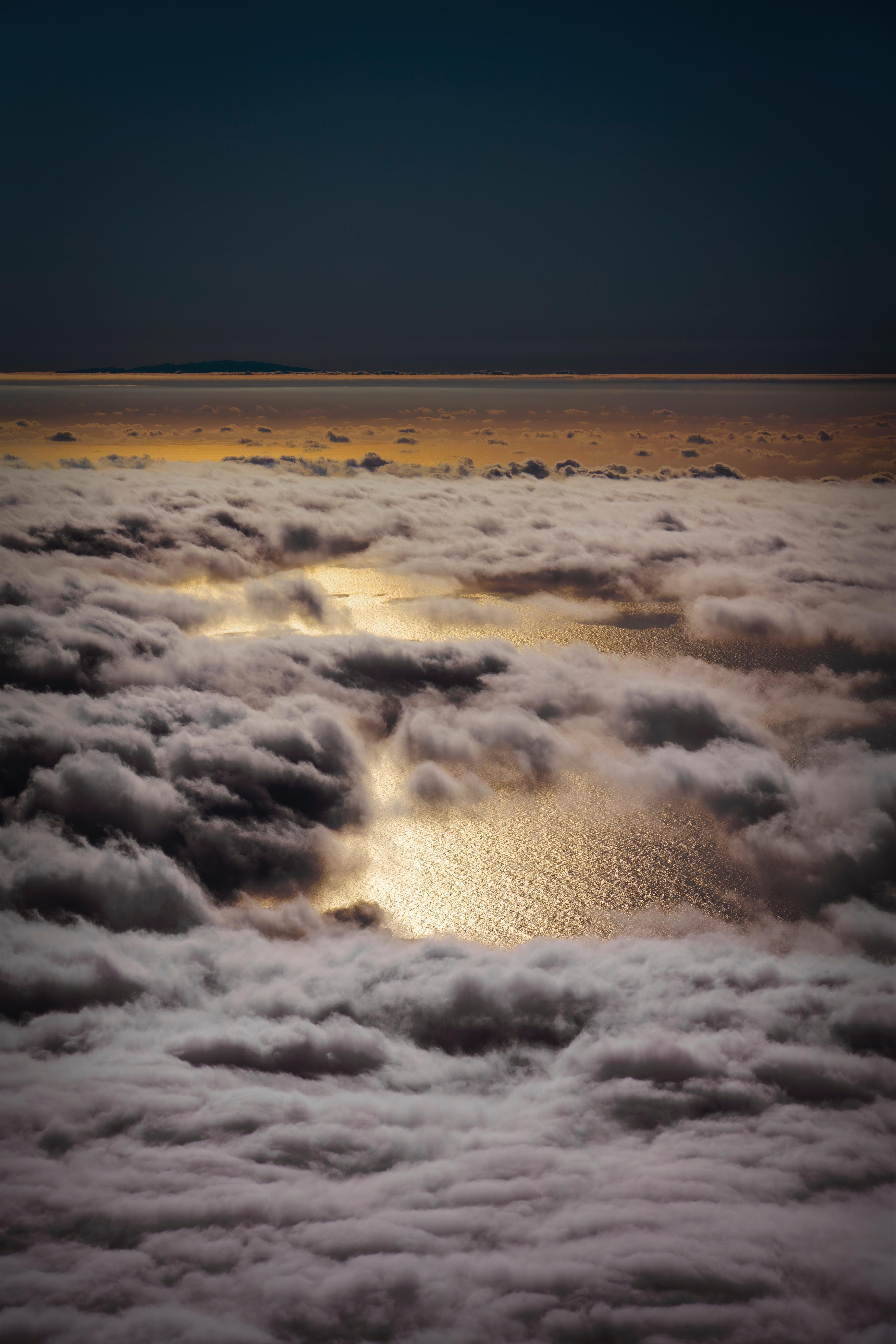 64726 免費下載壁紙 性质, 云, 海, 从上面看, 顶视图, 高度, 概述 屏保和圖片