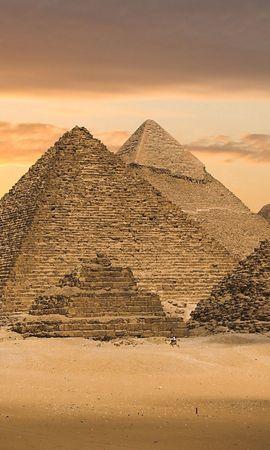 74561 скачать обои Природа, Пустыня, Пирамиды, Египет - заставки и картинки бесплатно