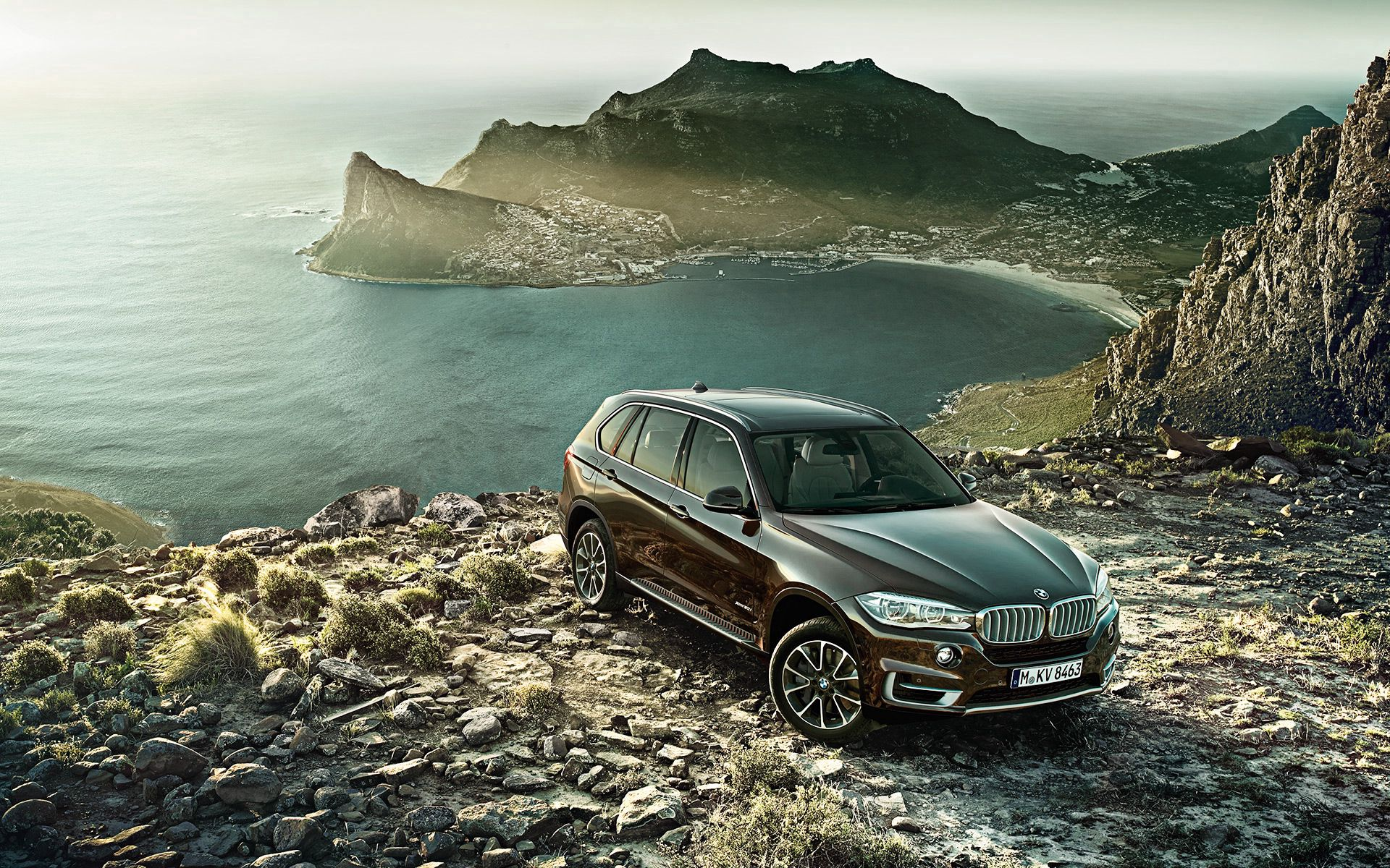 82457 download wallpaper Auto, Mountains, Bmw, Cars, Side View, Bmw X5, New, Novelty screensavers and pictures for free