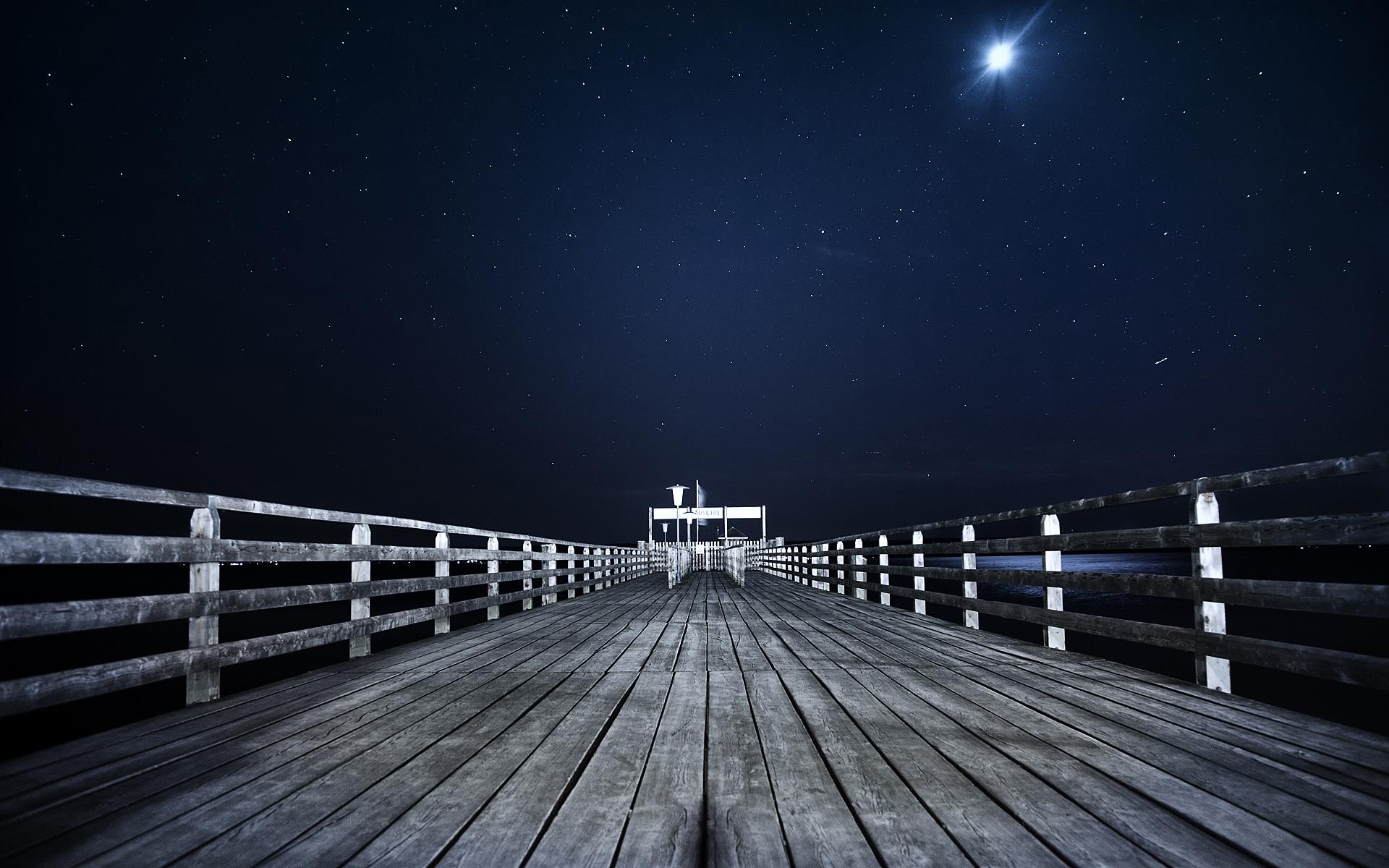 17219 скачать обои Пейзаж, Мосты, Ночь - заставки и картинки бесплатно