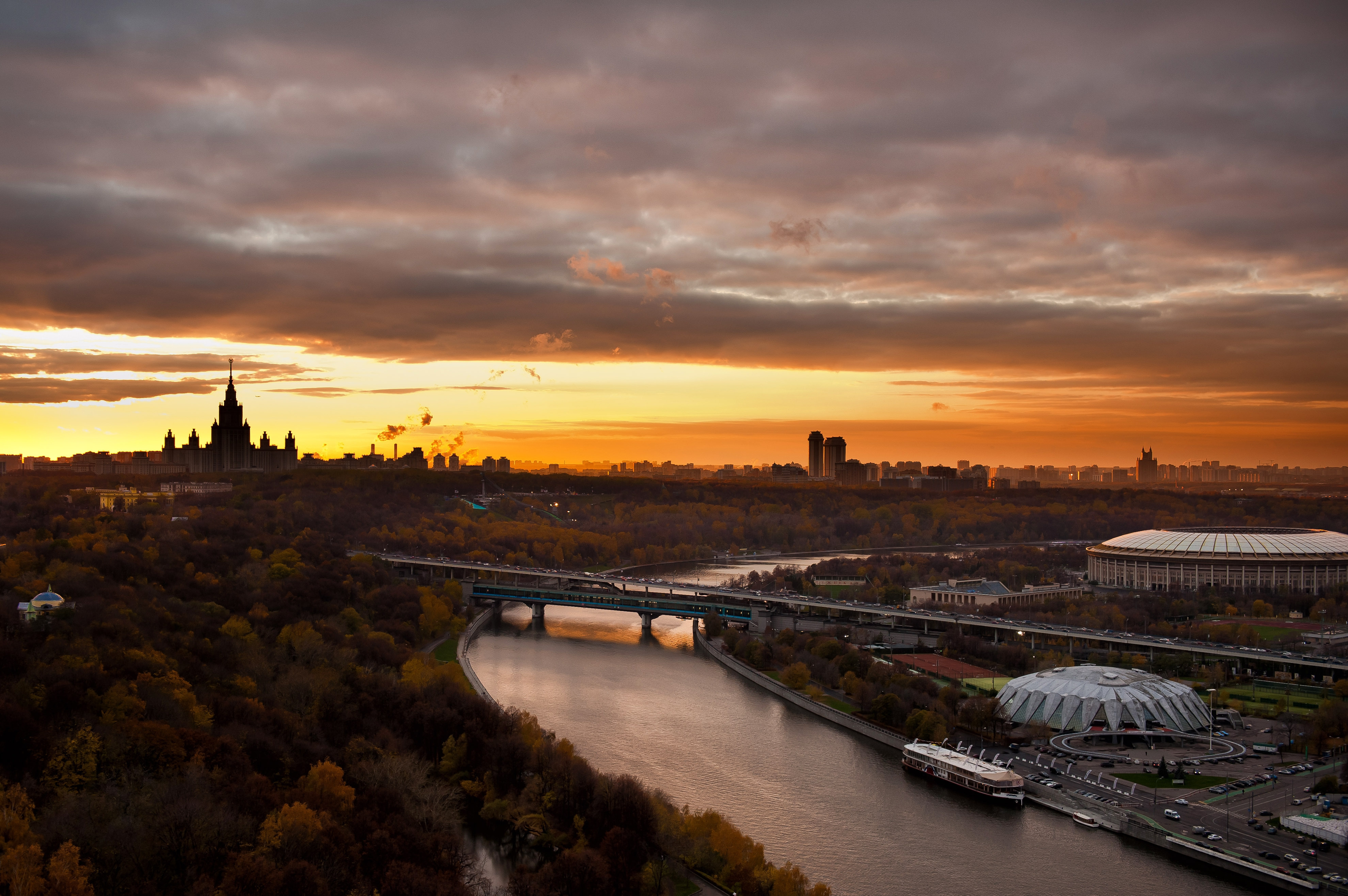 105167 Screensavers and Wallpapers Bridge for phone. Download Cities, Rivers, Moskow, Kremlin, Bridge, Landscapes, Olympic pictures for free