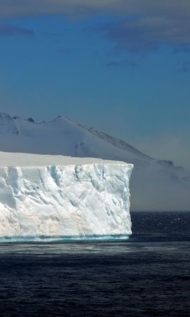 54217 скачать Белые обои на телефон бесплатно, Природа, Айсберги, Антарктида, Глыбы, Холод, Безмолвие, Пустота Белые картинки и заставки на мобильный