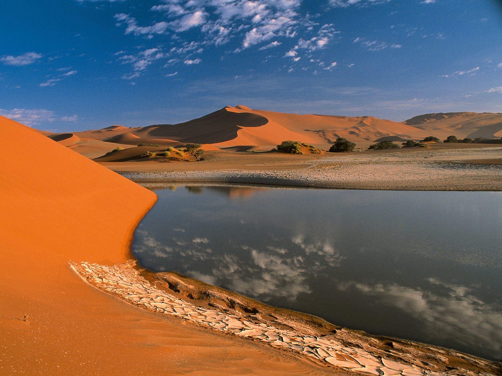 12174 скачать обои Пейзаж, Река, Песок, Пустыня - заставки и картинки бесплатно