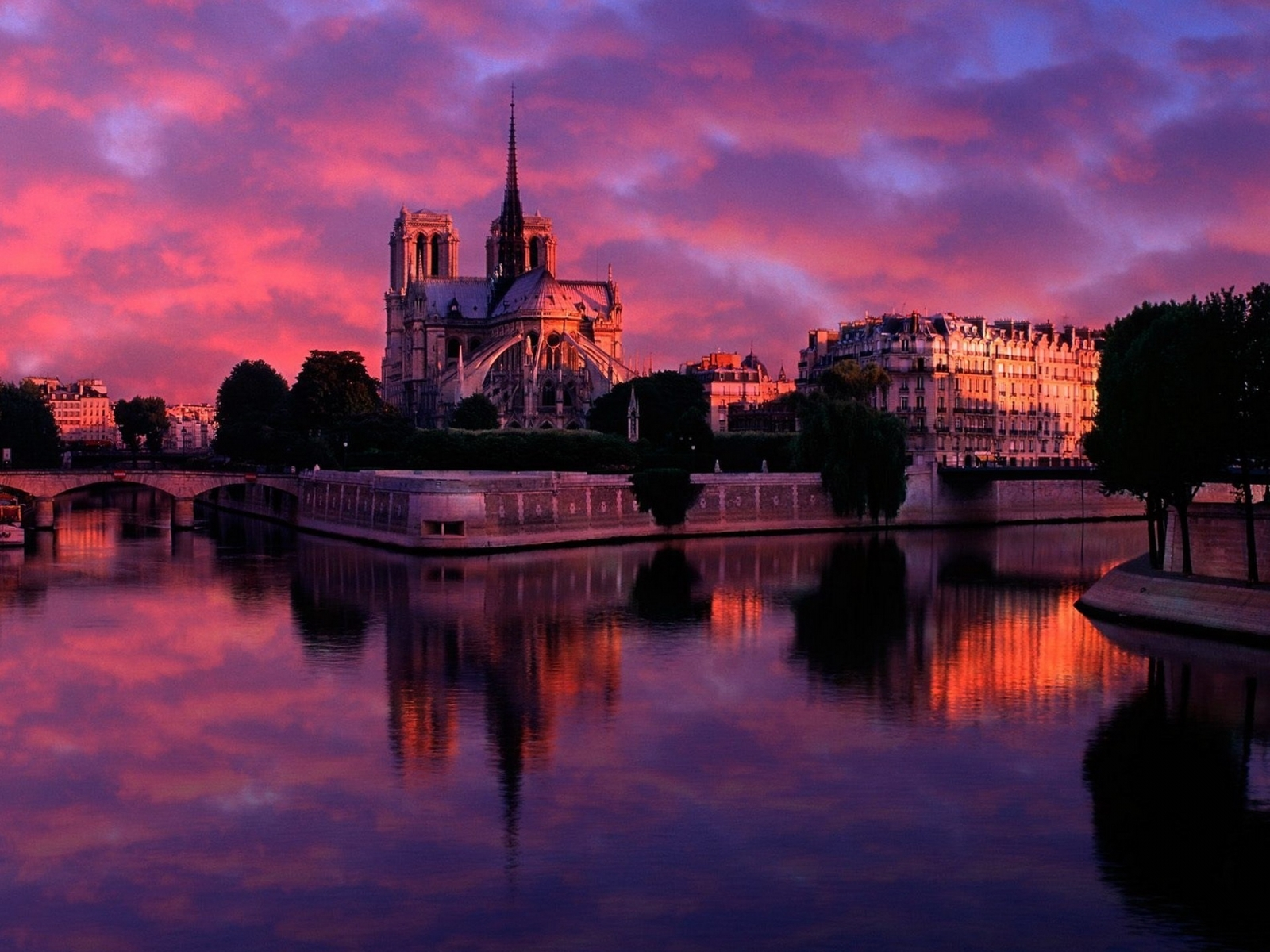3191 download wallpaper Landscape, Cities, Water, Sunset, Sky, Architecture screensavers and pictures for free