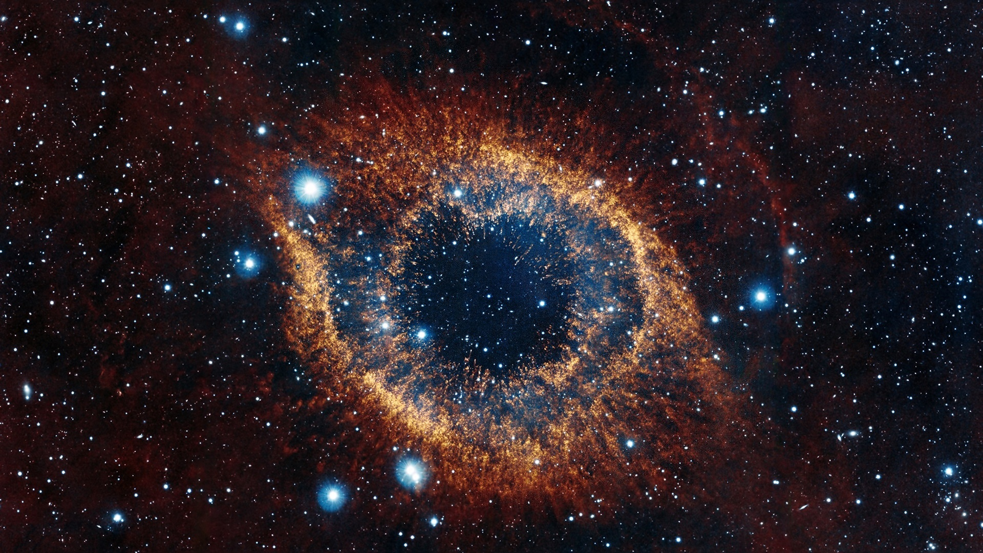 142446 download wallpaper Stars, Universe, Shine, Brilliance, Explosion, Helix Nebula screensavers and pictures for free