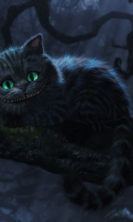 14107 download wallpaper Cinema, Animals, Cats, Alice In Wonderland screensavers and pictures for free