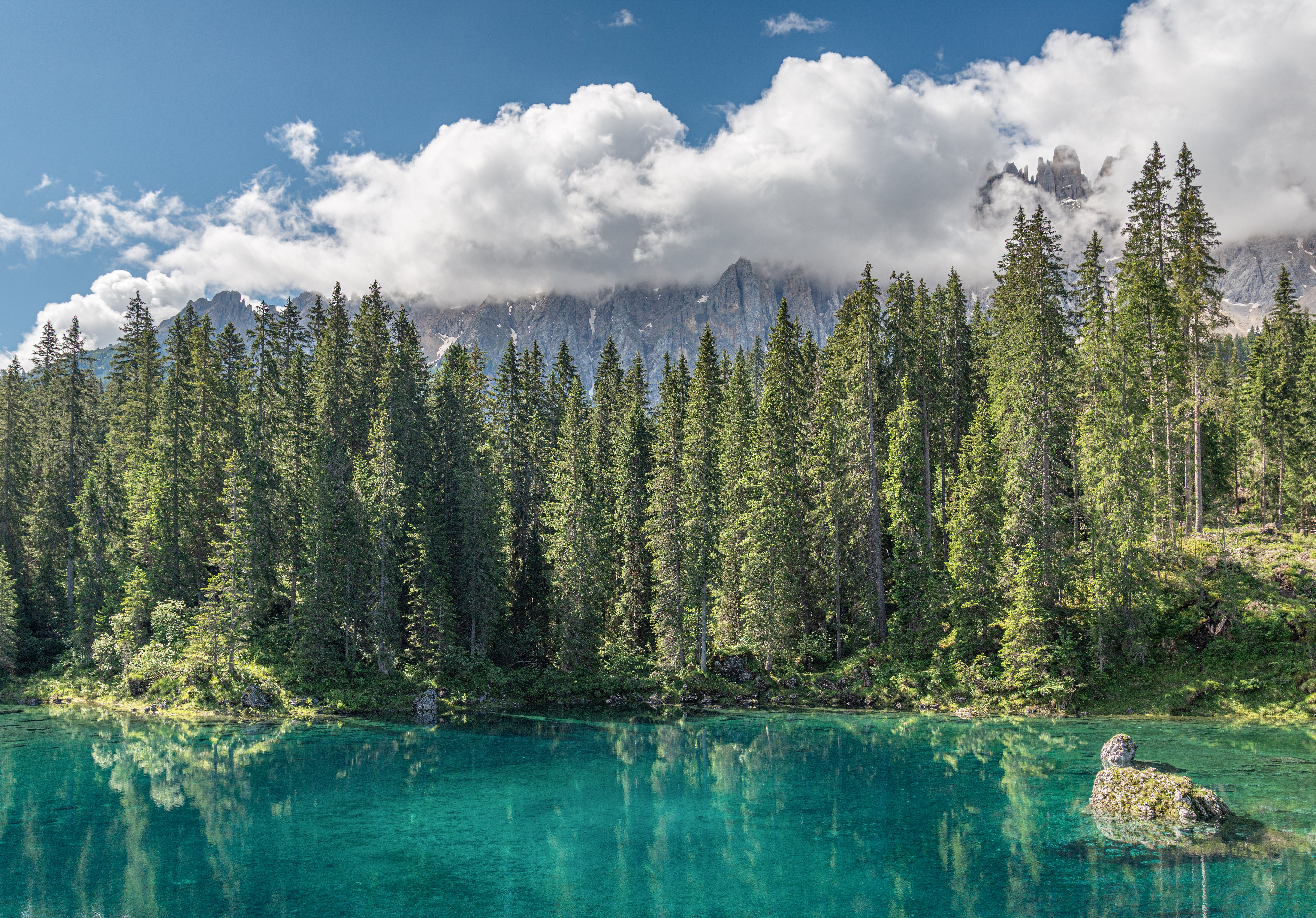 150595 free wallpaper 240x320 for phone, download images Landscape, Nature, Water, Trees, Mountains, Clouds, Lake, Forest 240x320 for mobile