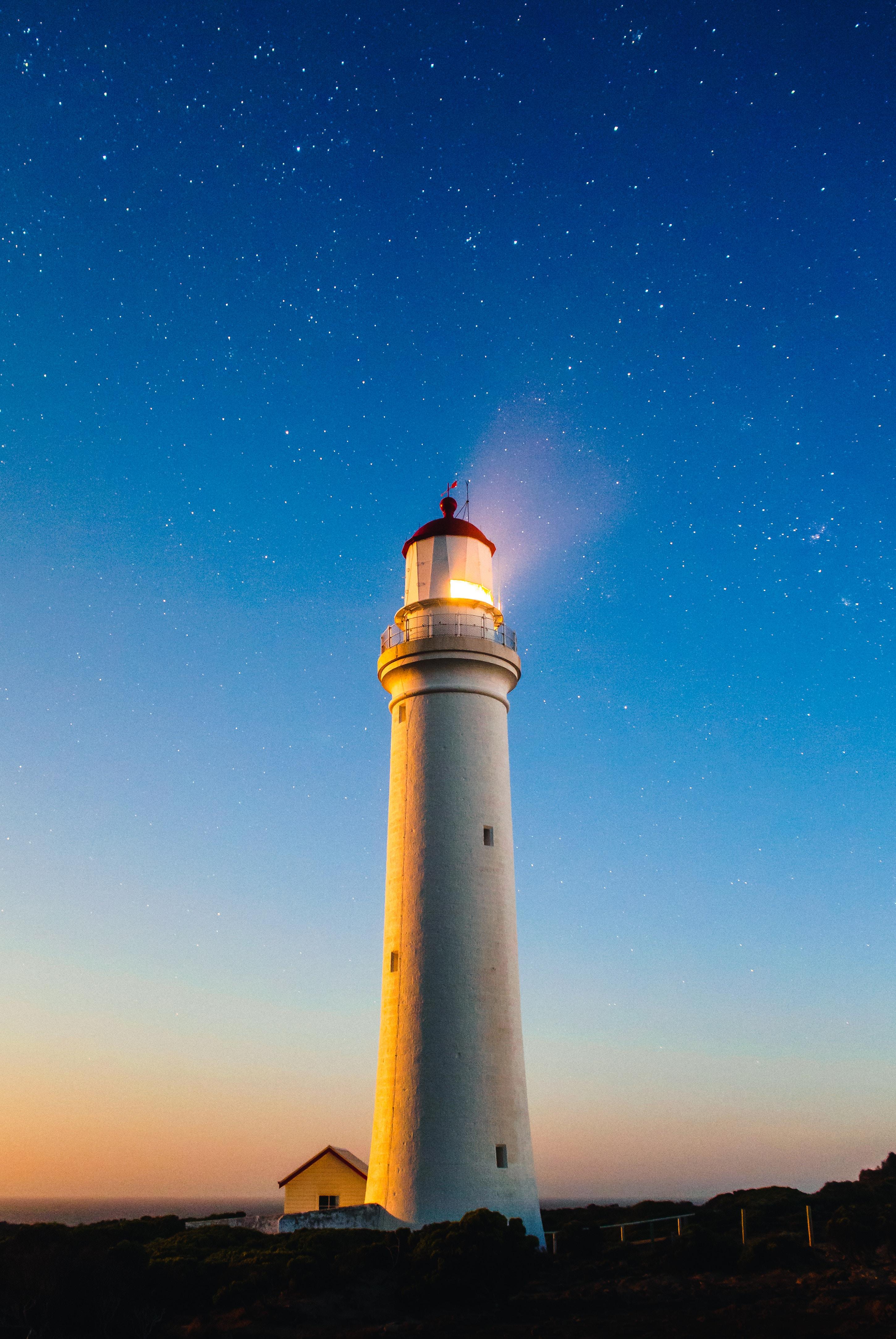 100137 Hintergrundbild herunterladen Natur, Sternenhimmel, Leuchtturm, Australien, Portland, Leuchtturm Von Cape Nelson, Cape Nelson Lighthouse - Bildschirmschoner und Bilder kostenlos