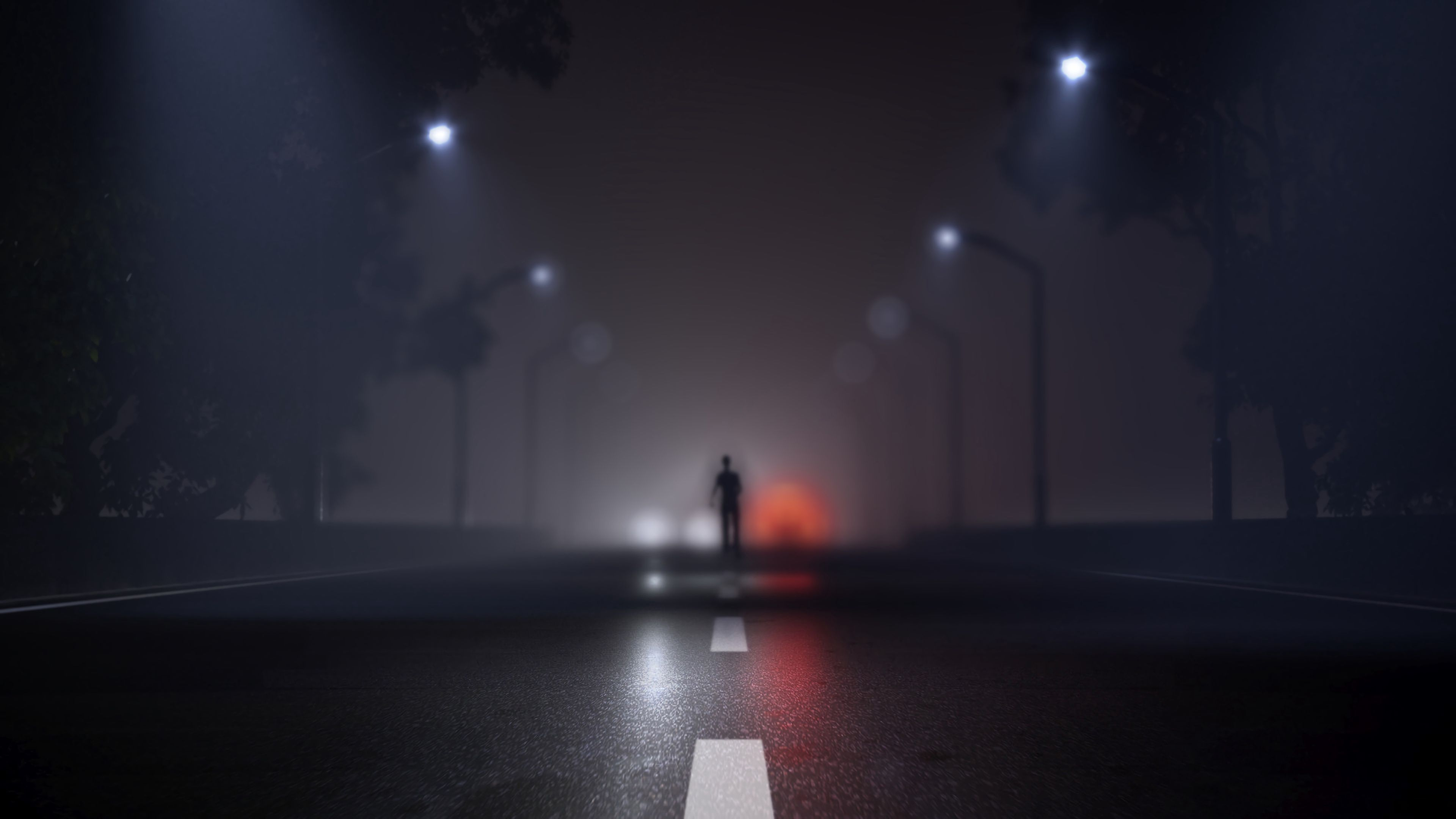 98636 Screensavers and Wallpapers Road for phone. Download Blur, Dark, Art, Silhouette, Road, Markup, Fog, Smooth pictures for free
