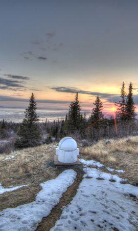 23048 скачать обои Пейзаж, Зима, Закат, Снег - заставки и картинки бесплатно