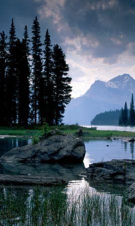 34532 скачать обои Пейзаж, Река, Горы - заставки и картинки бесплатно
