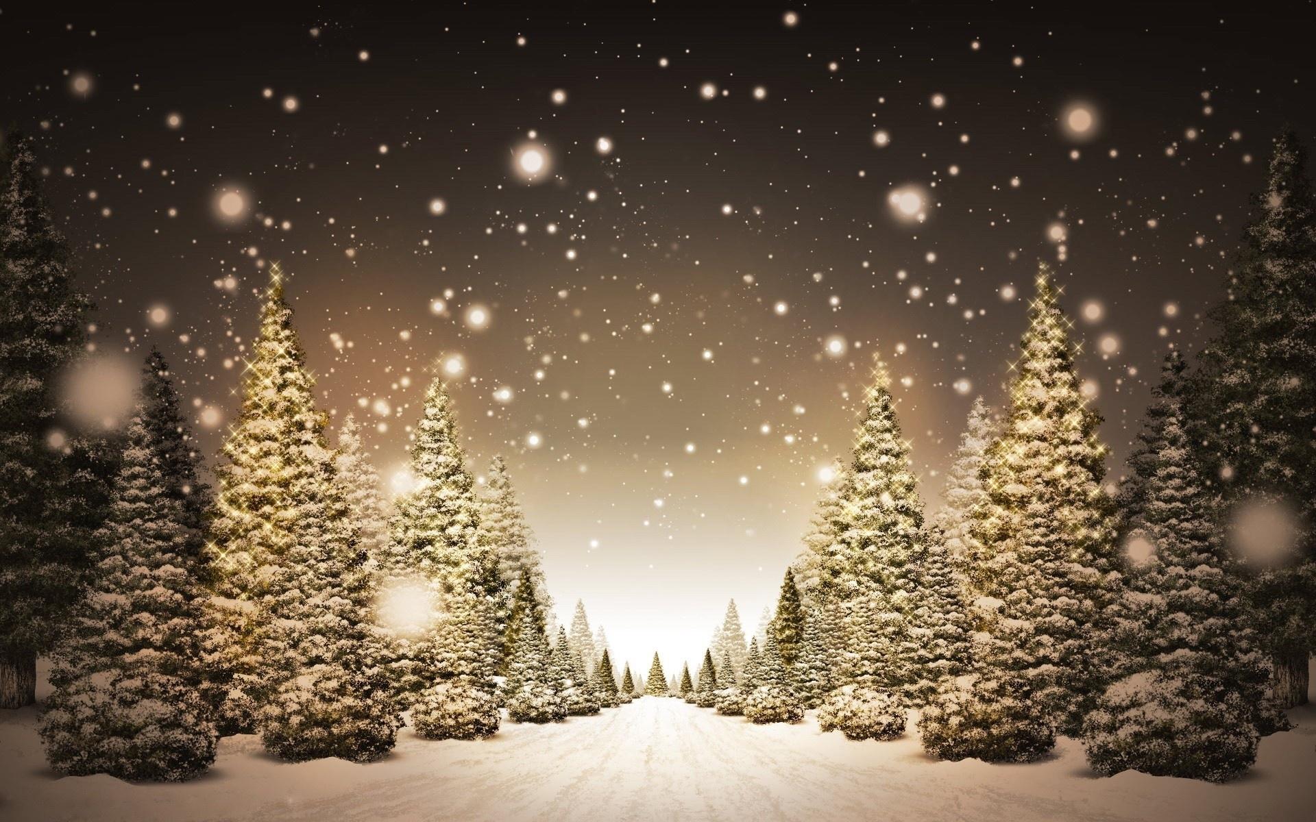 2217 скачать обои Пейзаж, Зима, Деревья, Арт, Дороги, Снег, Елки - заставки и картинки бесплатно