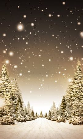 2217 download wallpaper Landscape, Winter, Trees, Art, Roads, Snow, Fir-Trees screensavers and pictures for free