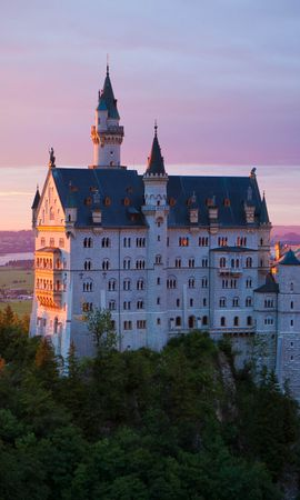 103410 Screensavers and Wallpapers Architecture for phone. Download Lock, Neuschwanstein, Bavaria, Germany, Architecture, Cities pictures for free