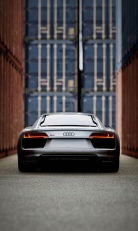85682 télécharger le fond d'écran Voitures, Audi, Voiture De Sport, Sportif, Vue Arrière - économiseurs d'écran et images gratuitement