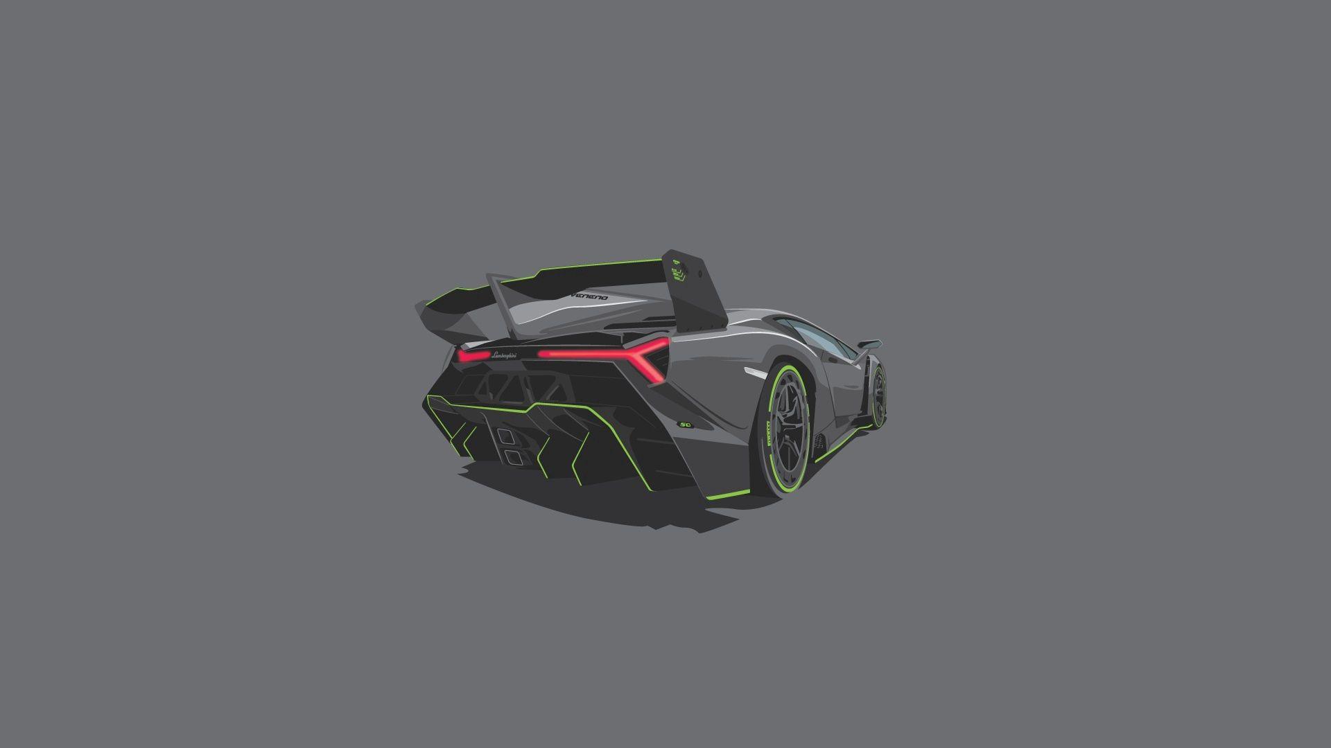 90970 Hintergrundbild herunterladen Lamborghini, Kunst, Vektor, Minimalismus, Veneno - Bildschirmschoner und Bilder kostenlos