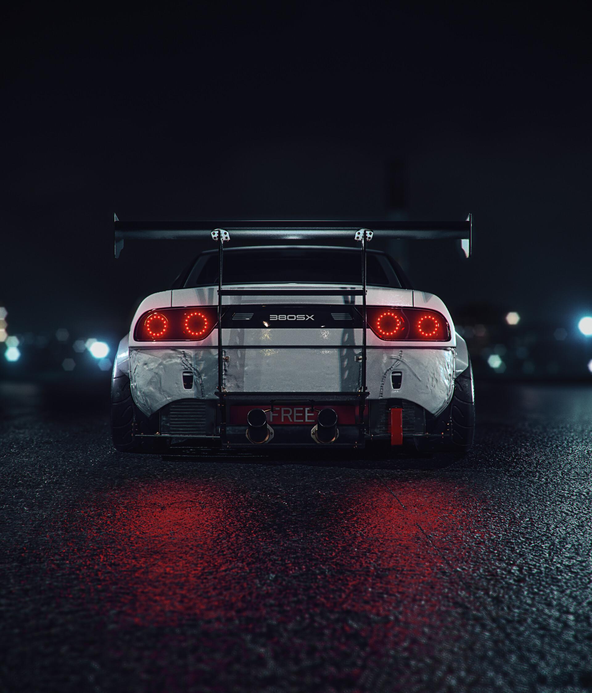 98661 Hintergrundbild herunterladen Sport, Auto, Übernachtung, Cars, Maschine, Hintergrundbeleuchtung, Beleuchtung, Sportwagen, Rückansicht - Bildschirmschoner und Bilder kostenlos
