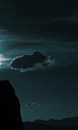 156101 Заставки і шпалери Темний на телефон. Завантажити Темні, Темний, Хлопець, Парубок, Вершина, Верх, Силует, Небо, Хмари картинки безкоштовно