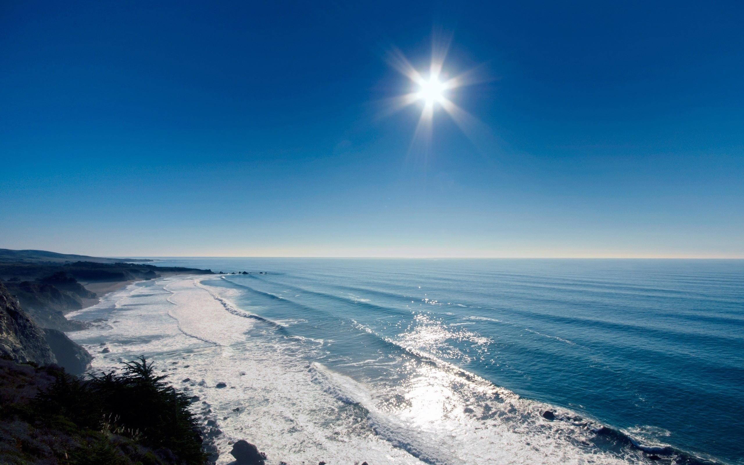 27555 скачать обои Пейзаж, Море, Солнце, Волны - заставки и картинки бесплатно