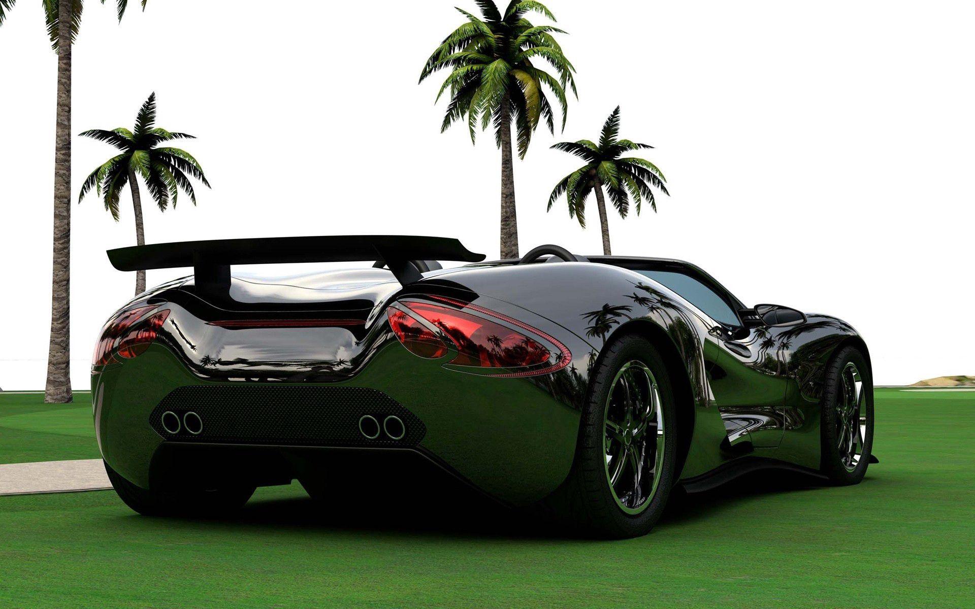 57768 скачать обои Тачки (Cars), Scorpion, Машины, Кабриолет, Черный, Вид Сзади - заставки и картинки бесплатно